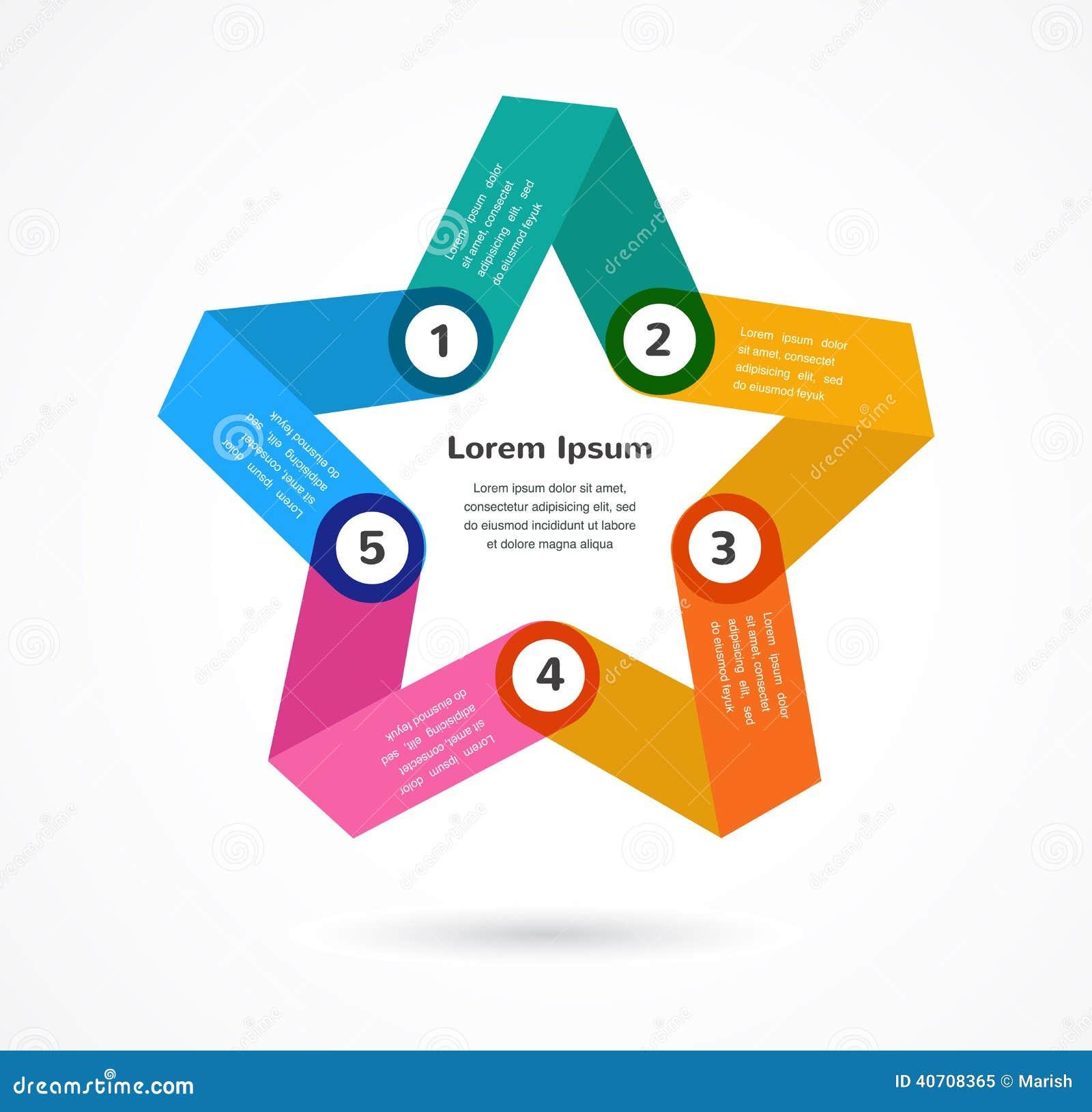 Fondo colorido abstracto infographic con la estrella