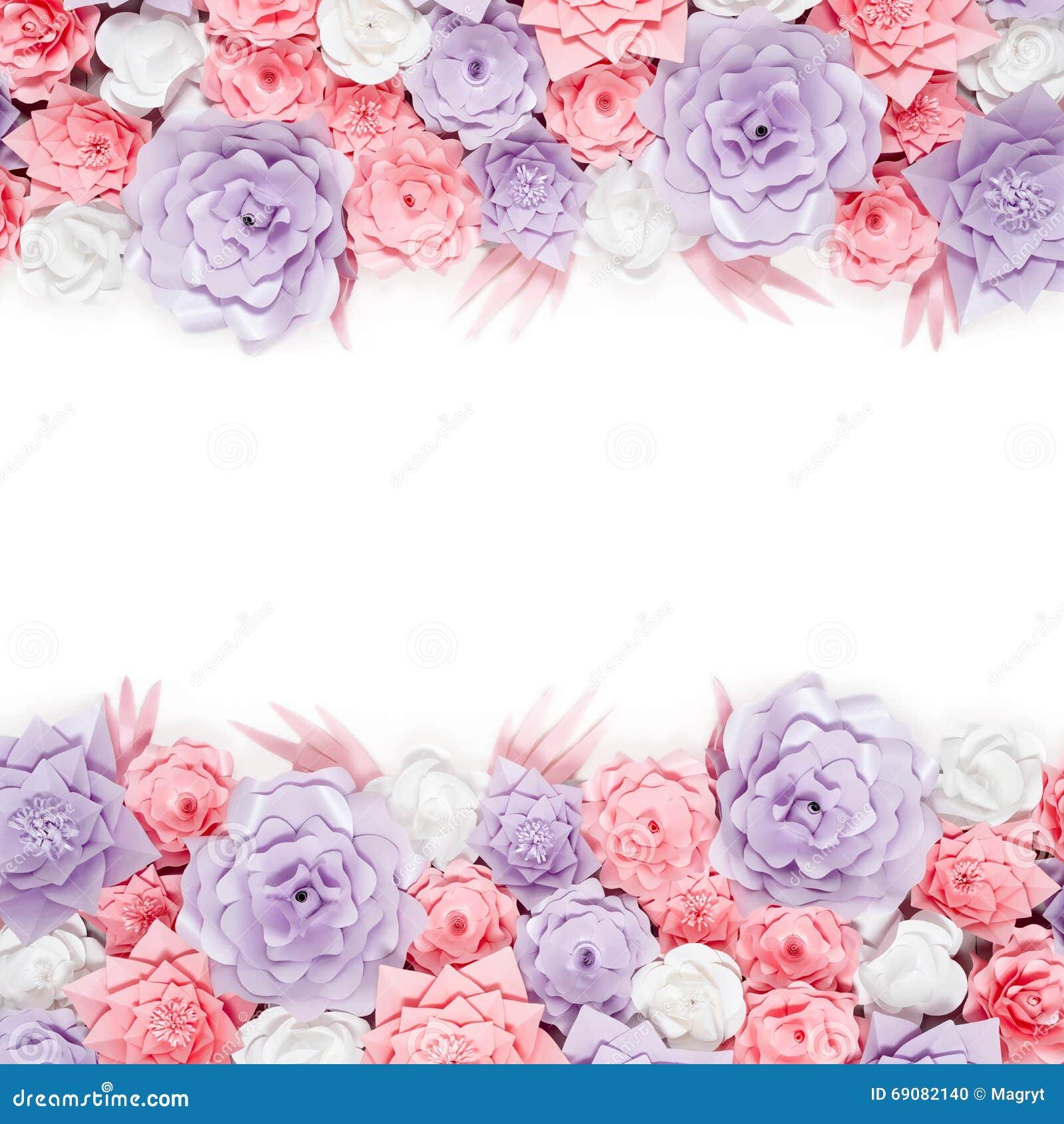 Fondo Colorido De Las Flores De Papel Contexto Floral Con