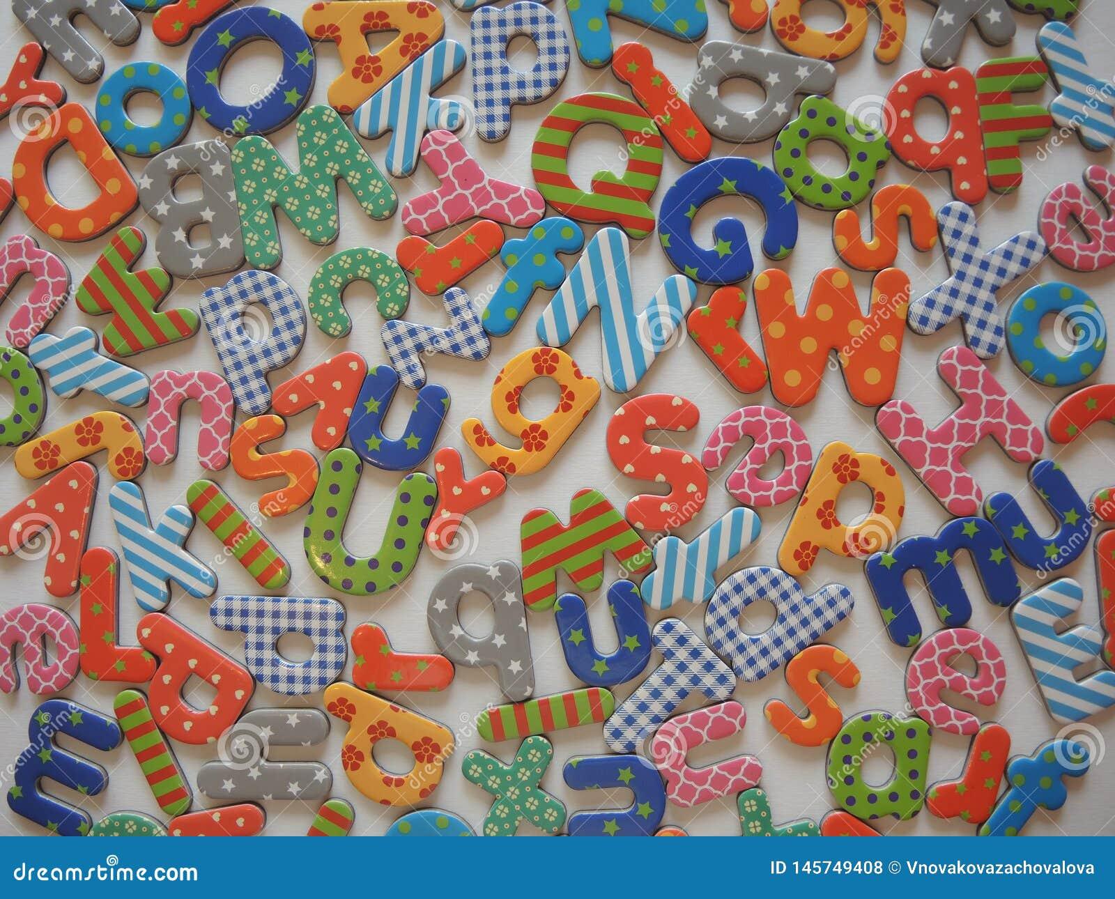 Fondo colorido de las letras