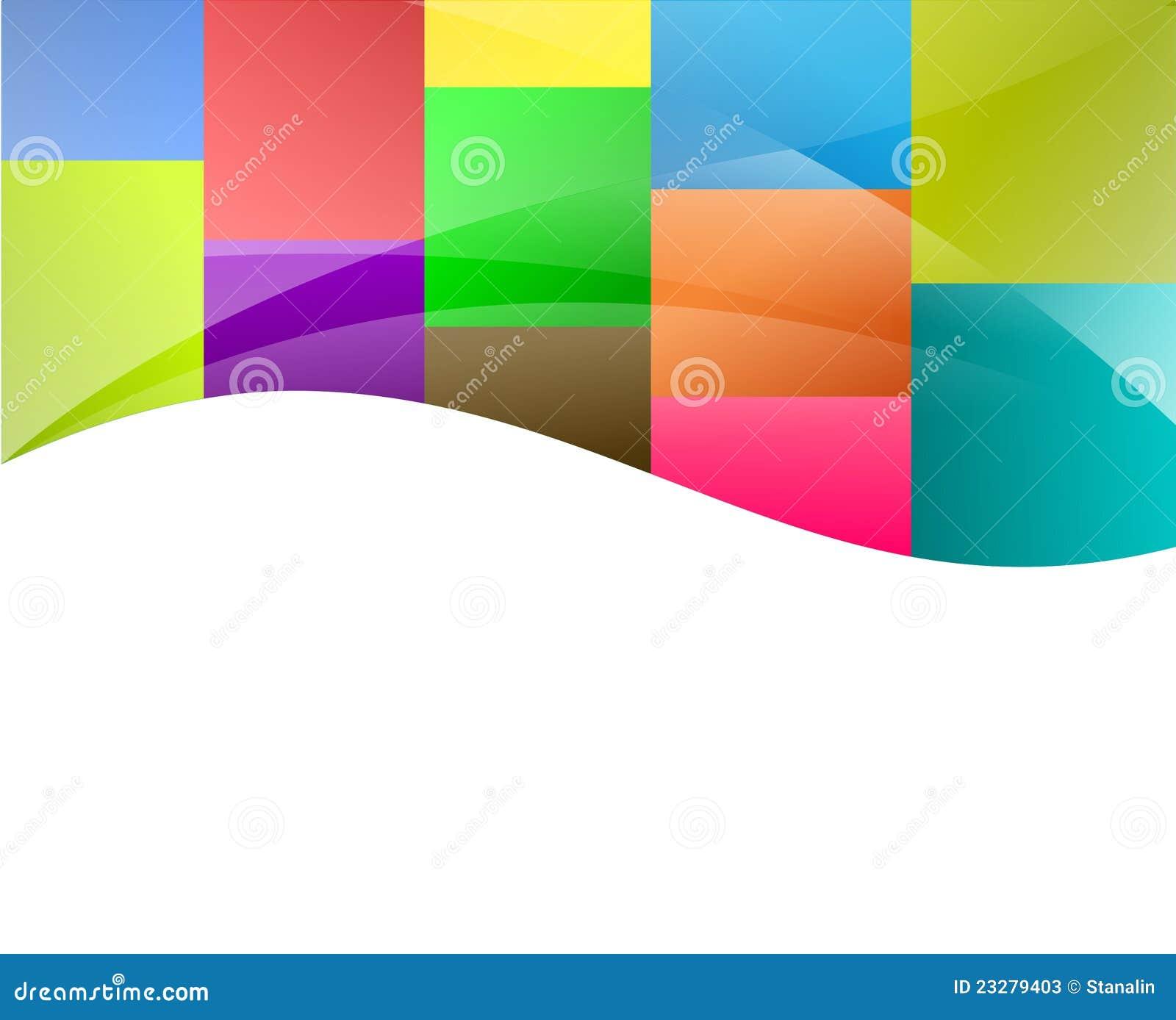 Fondo colorido de los cuadrados