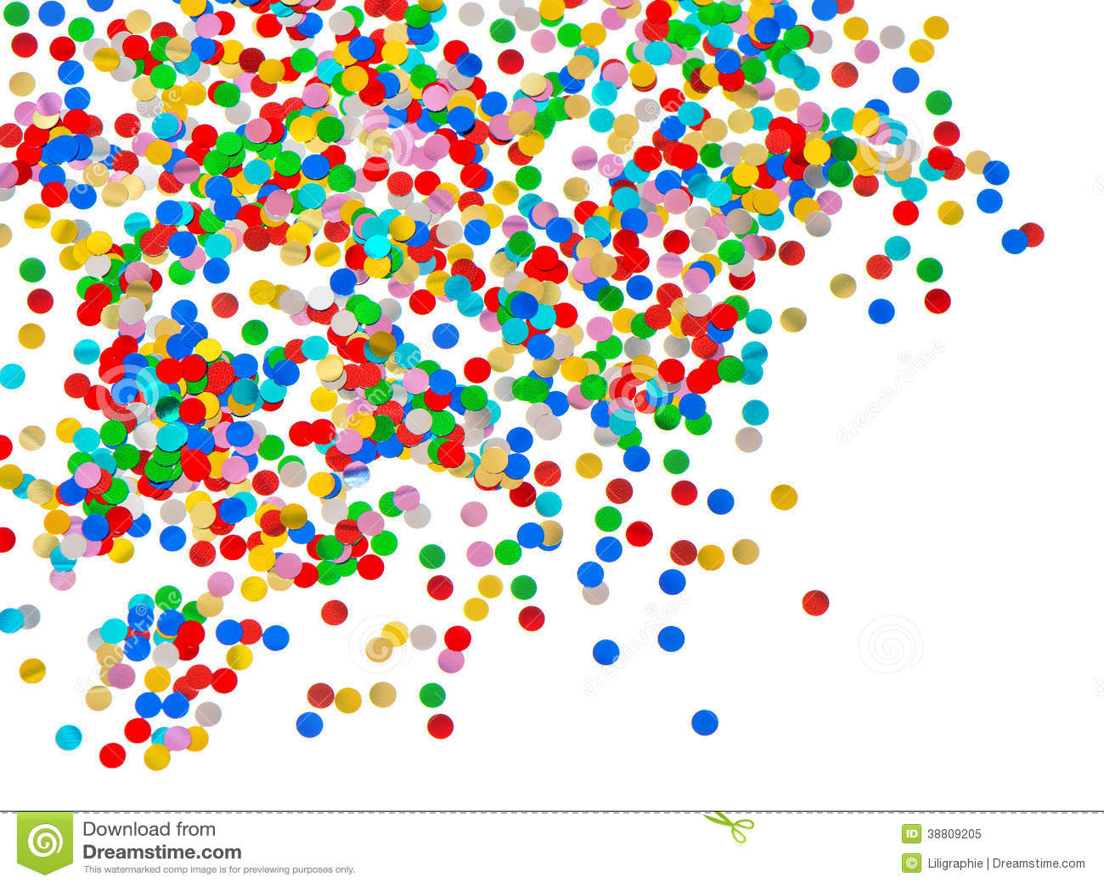 Fondo De Fiesta Diseño Decoracion Confeti Arte Patrón: Fondo Colorido Del Confeti. Decoración Del Carnaval