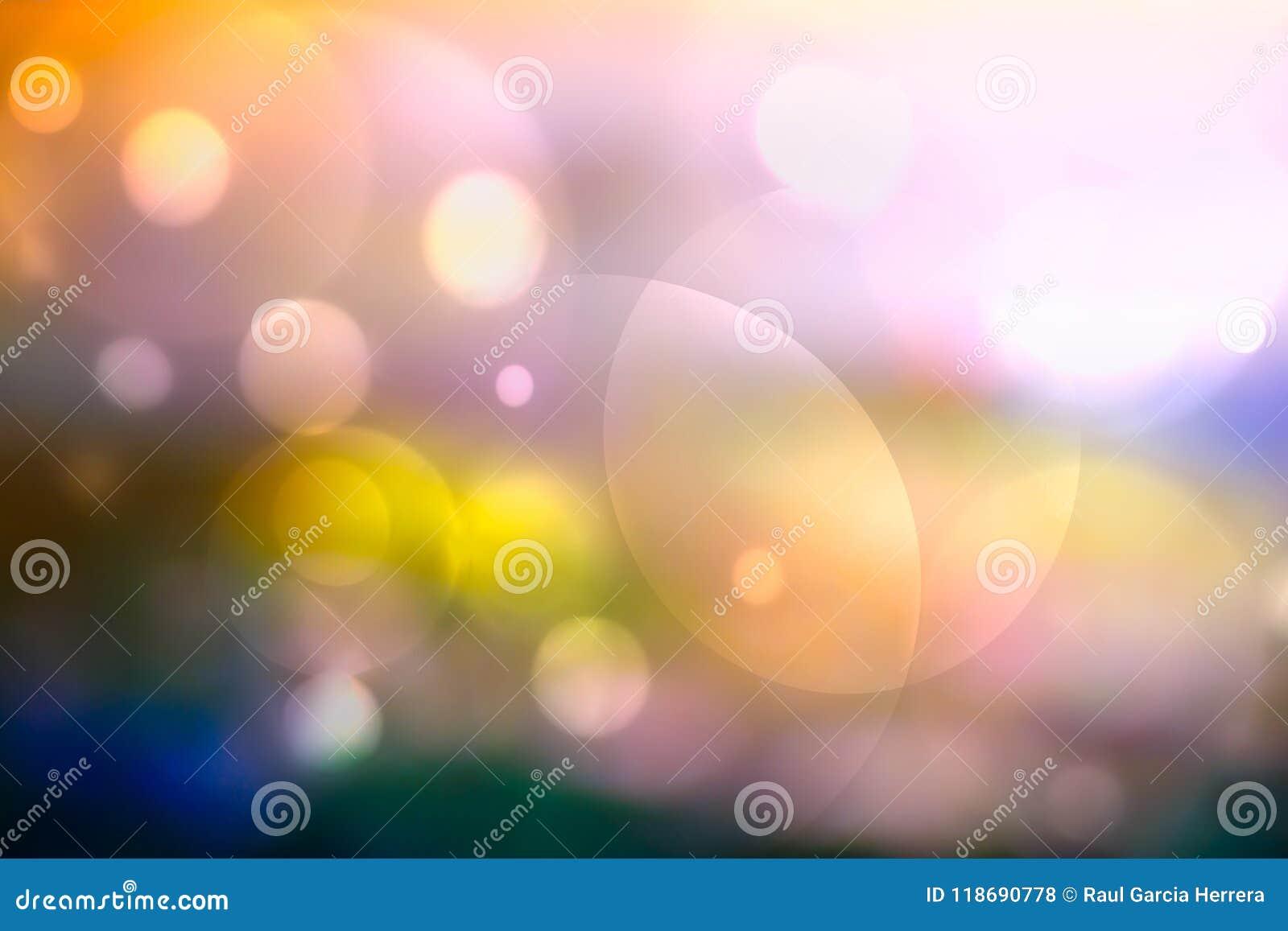 Fondo colorido del extracto de Bokeh Fondo colorido Defocused del bokeh