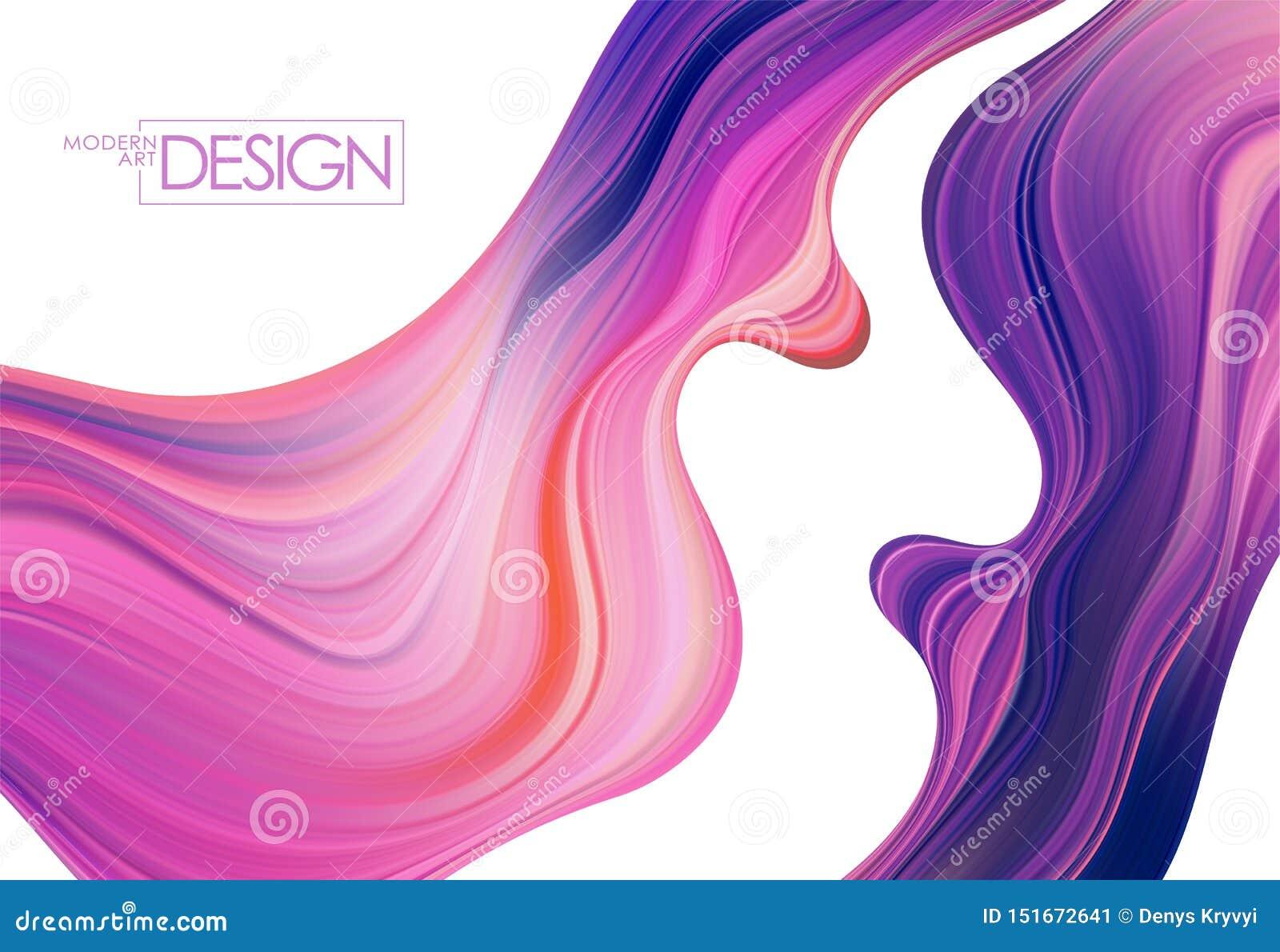 Fondo colorido del flujo Forma del l?quido de la onda Diseño de moda abstracto para su proyecto