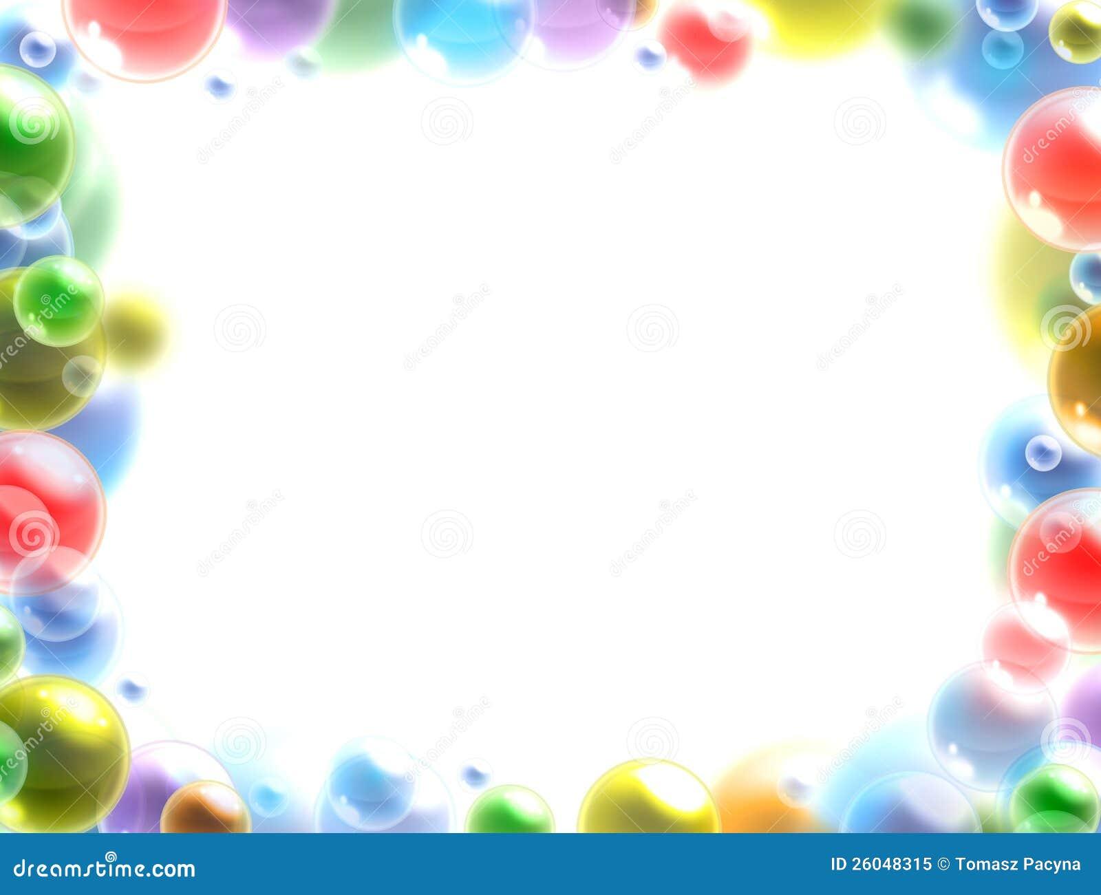 Fondo Colorido Del Marco De Las Burbujas Stock de ilustración ...