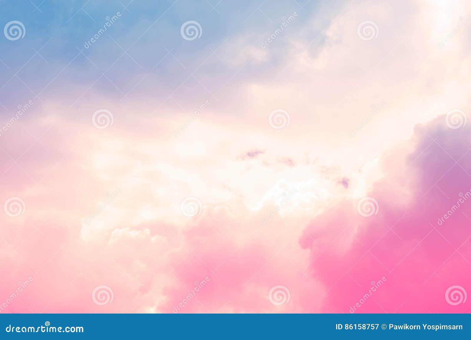 Fondo colorido en colores pastel de la nube del extracto suave del cielo