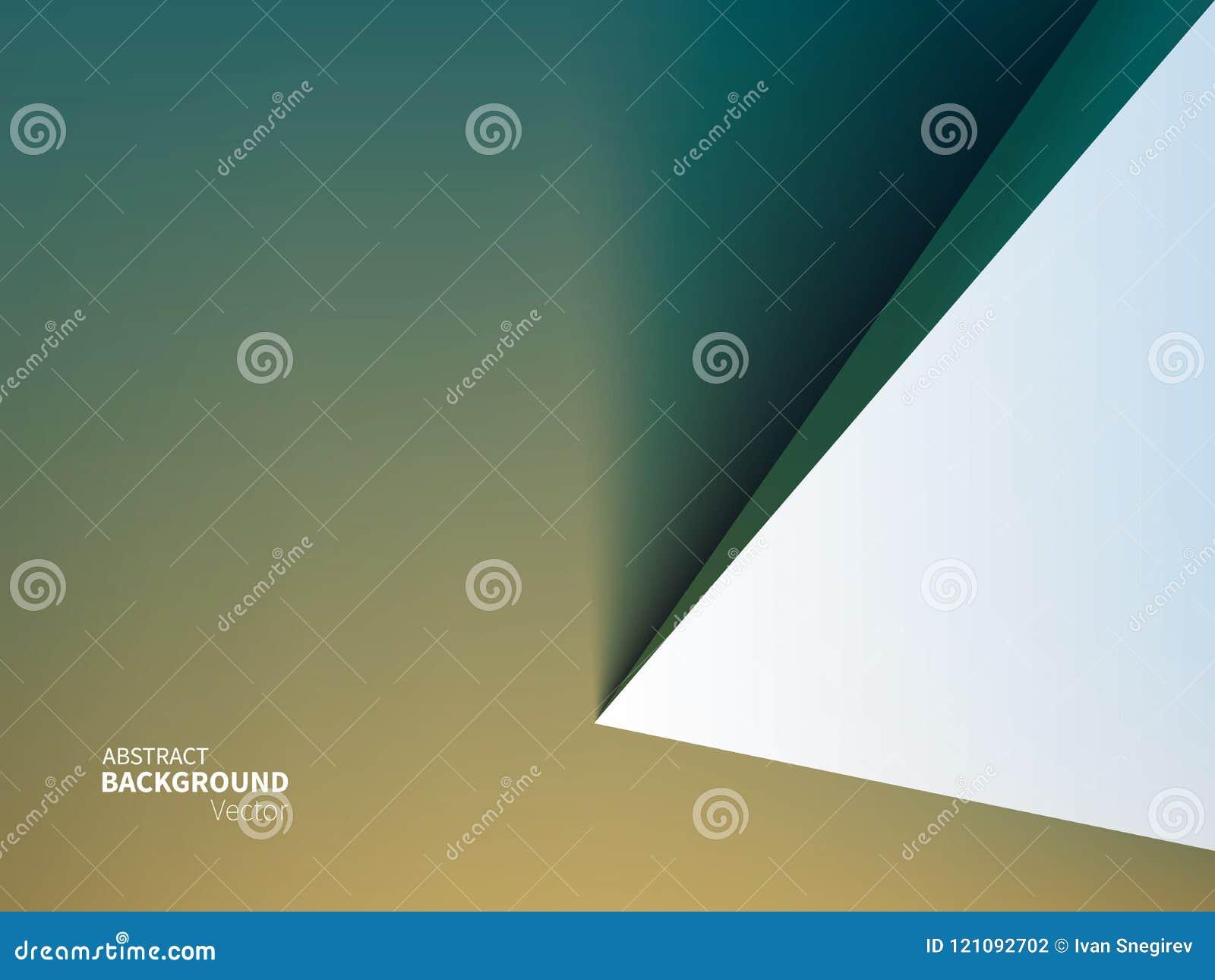 Fondo común del extracto del ejemplo del vector Estilo material del diseño Minimalismo, 3D, geometría, sombra Efecto de papel de