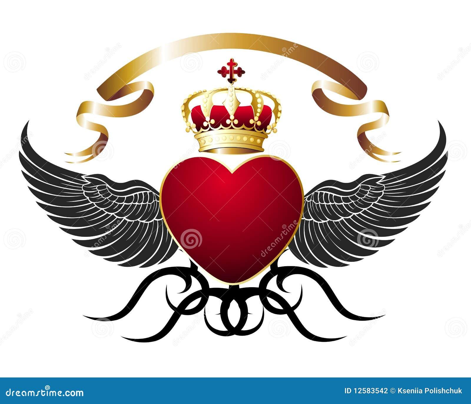 Corazón Espada Y Alas Ilustración Del Vector Ilustración De