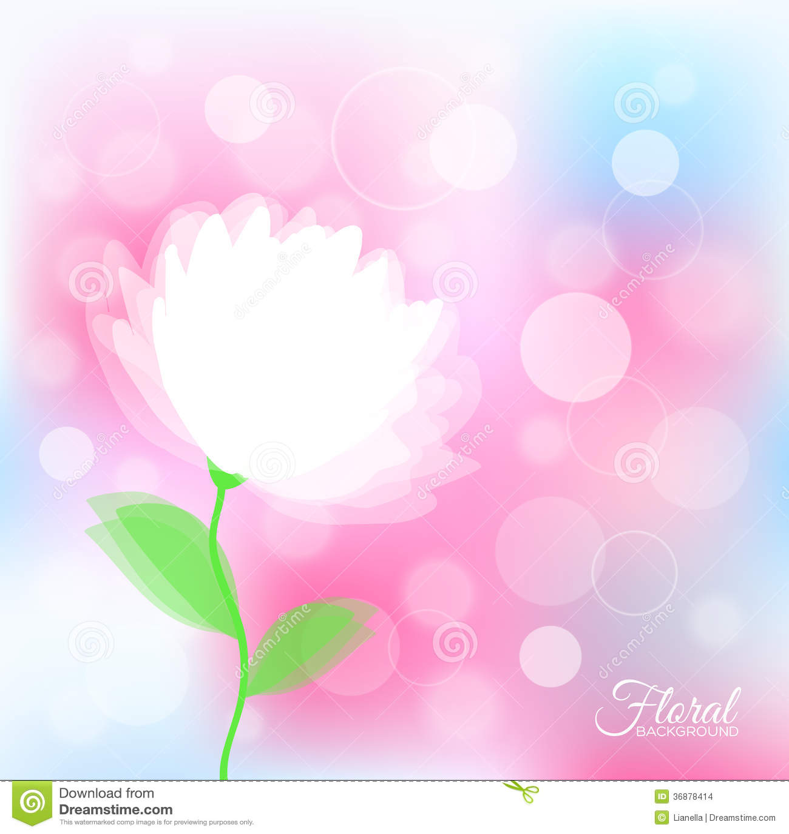 Download Fondo Con Il Fiore Delicato Trasparente Illustrazione Vettoriale - Illustrazione di pianta, fragile: 36878414