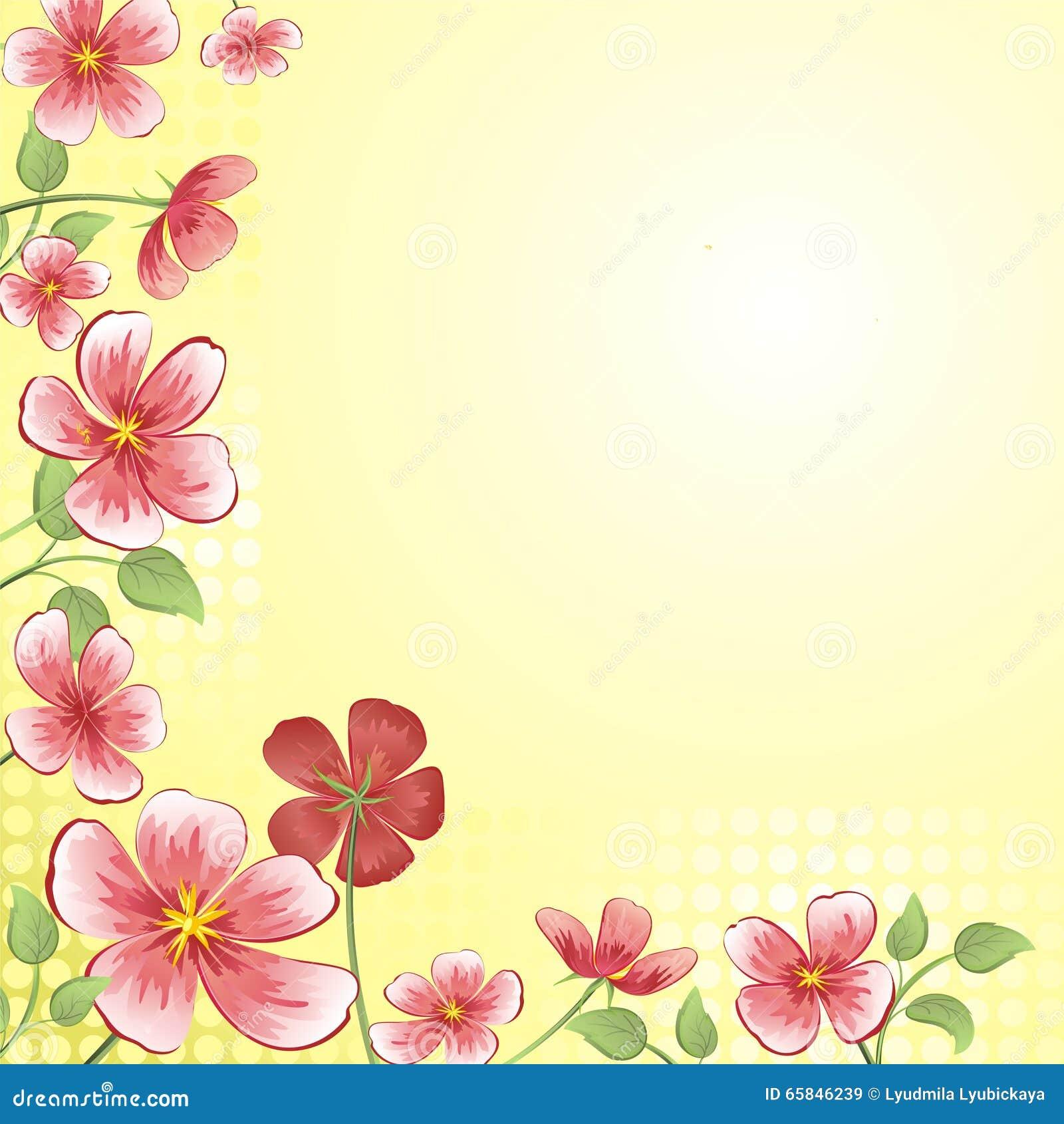 Fondo con las flores para la tarjeta ilustraci n del for Imagenes bonitas para decorar