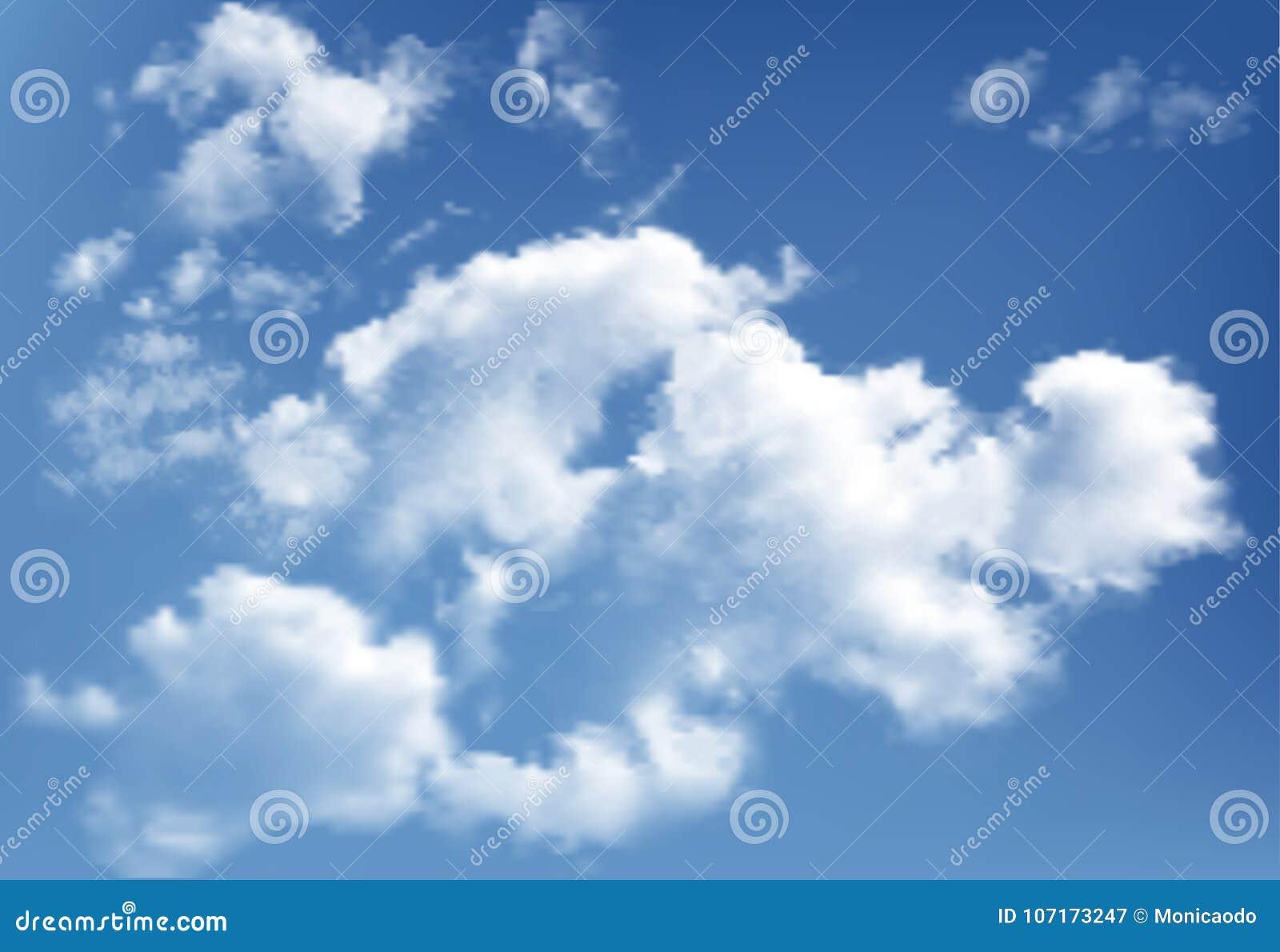 Fondo con las nubes en el cielo azul