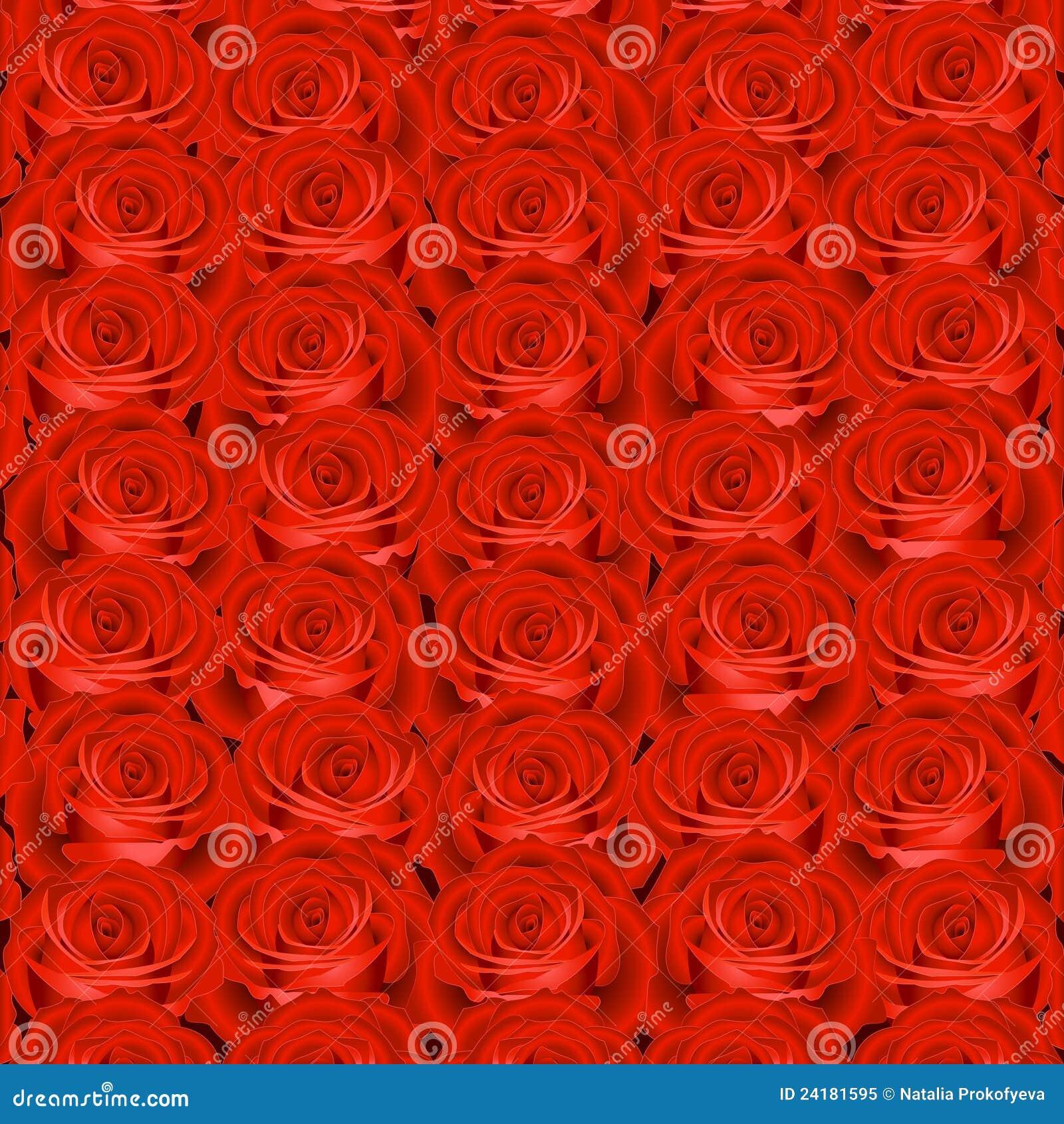 Fondo con las rosas rojas