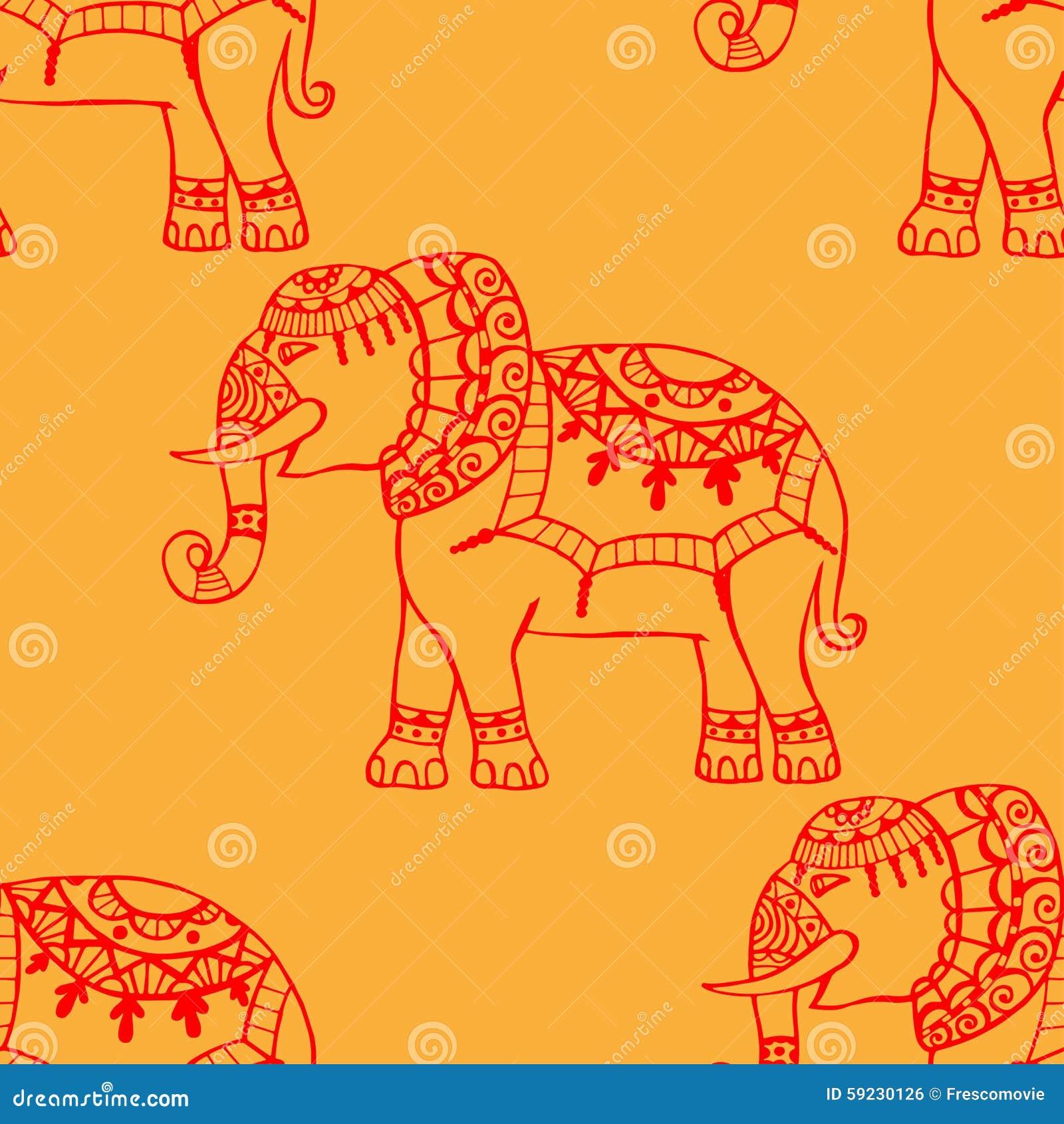 Download Fondo con los elefantes ilustración del vector. Ilustración de fresco - 59230126