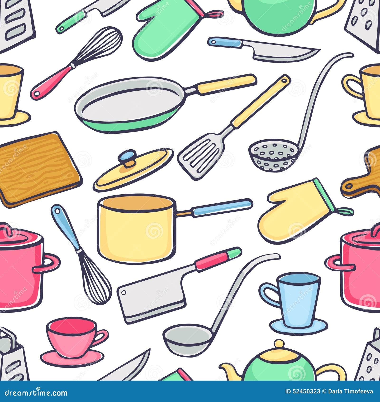 Fondo con los utensilios de la cocina ilustraci n del for Utensilios de cocina fondo