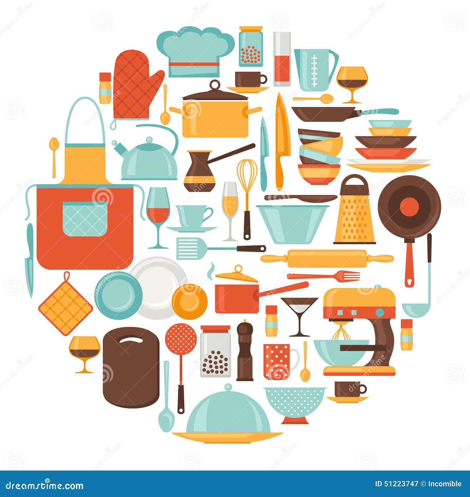Fondo con los utensilios de la cocina y del restaurante for Utensilios de cocina fondo