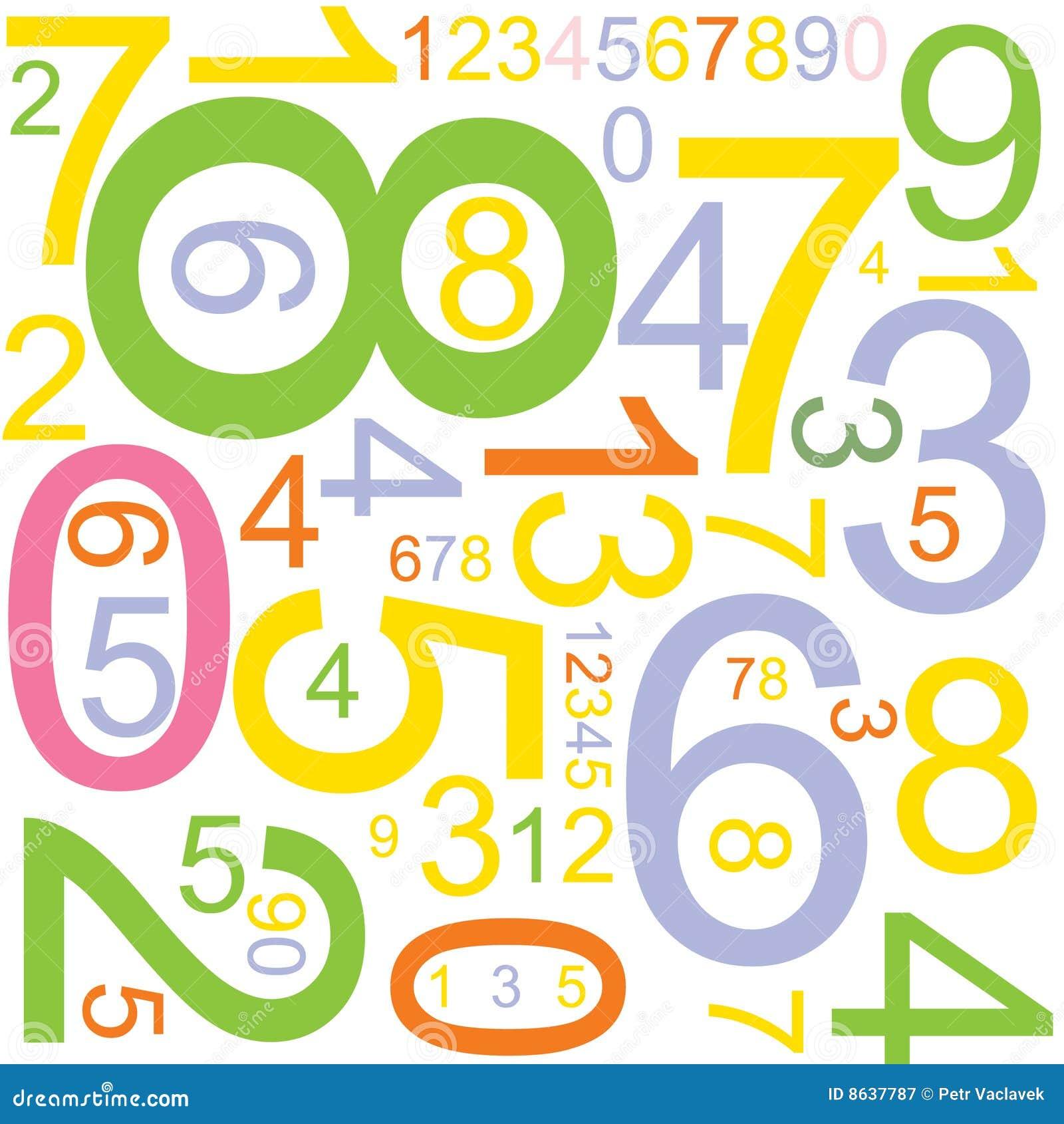 Fondo con números