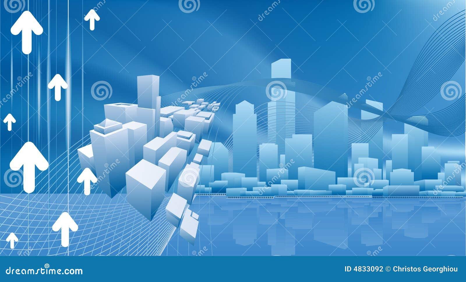 Fondo conceptual del asunto de la ciudad