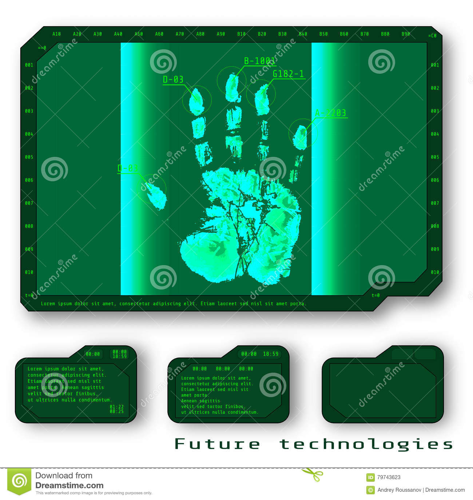Fondo conceptual digital abstracto verde de la seguridad de la tecnología