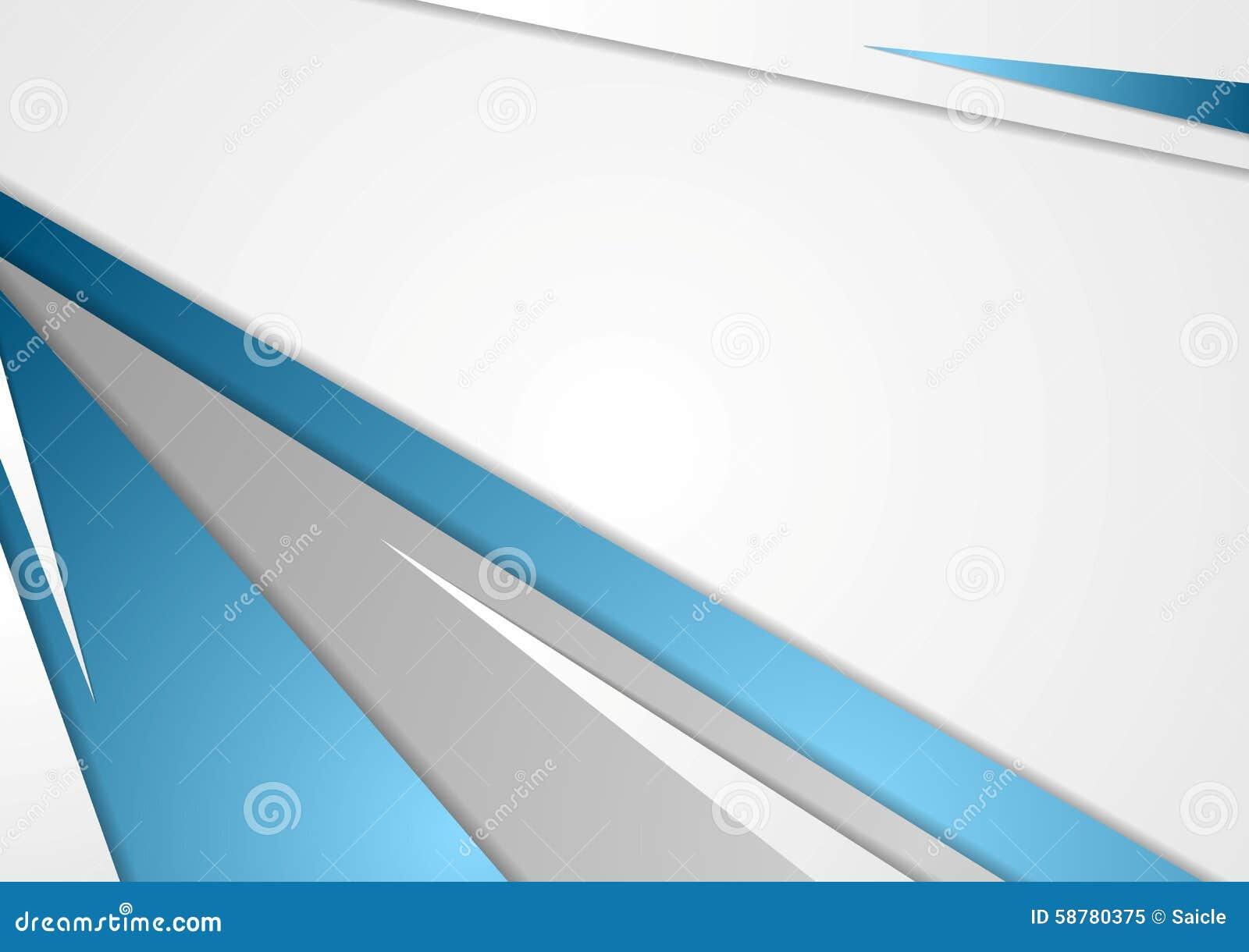 Fondo Corporativo Abstracto Del Gris Azul Ilustración Del
