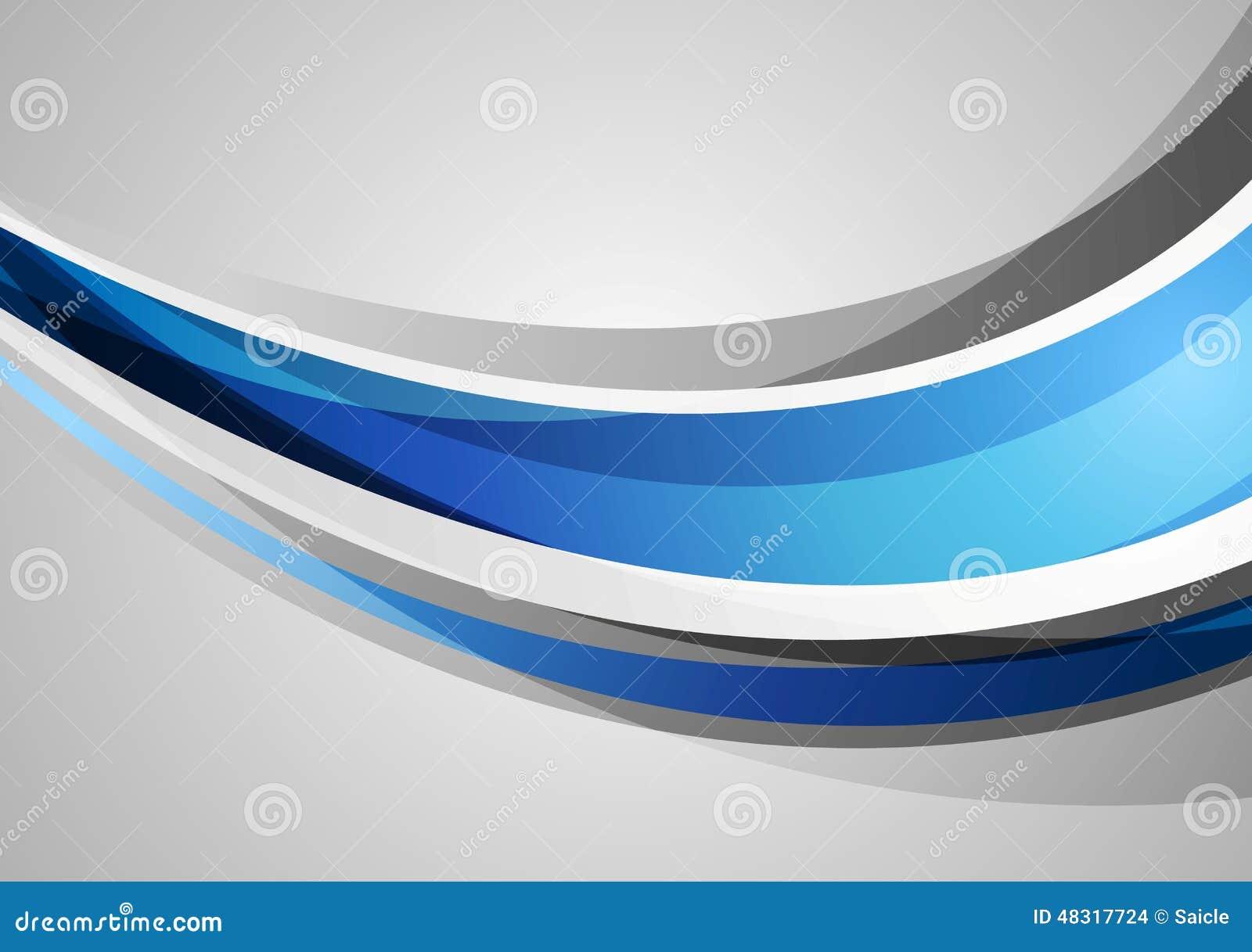 Fondo Corporativo Azul Y Gris De Las Ondas Ilustración