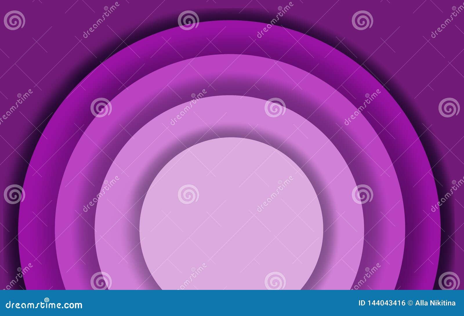Fondo cortado de papel púrpura del extracto con formas del círculo Ejemplo moderno de la trama para el diseño de concepto