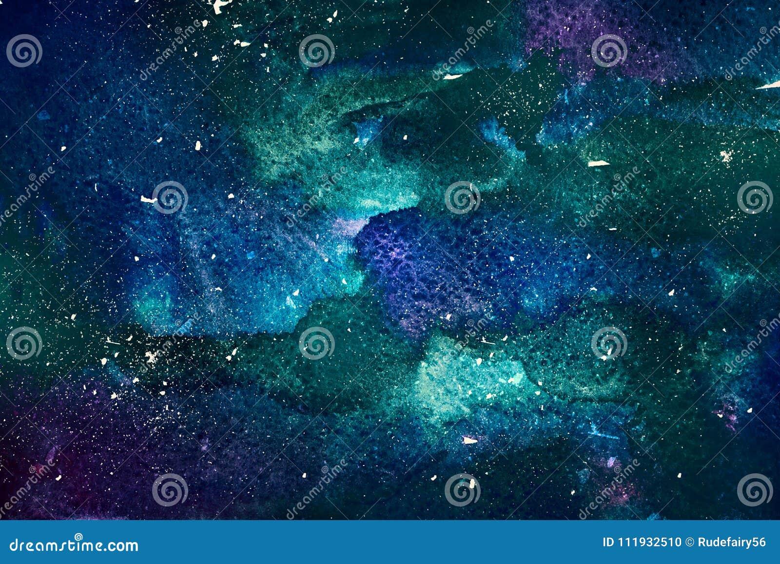 Fondo cosmico dell acquerello