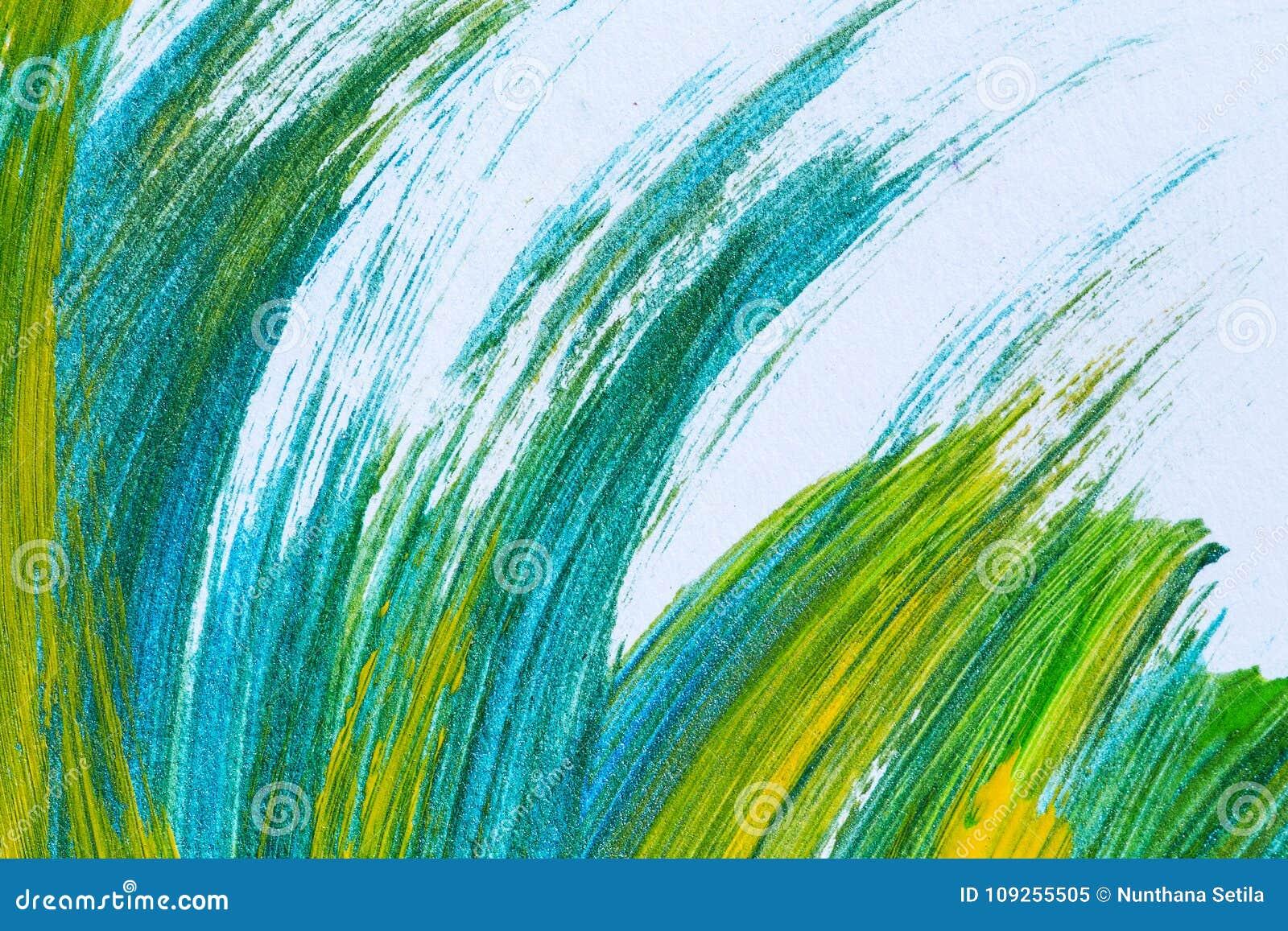 Fondo creativo disegnato a mano astratto di arte della pittura acrilica clo