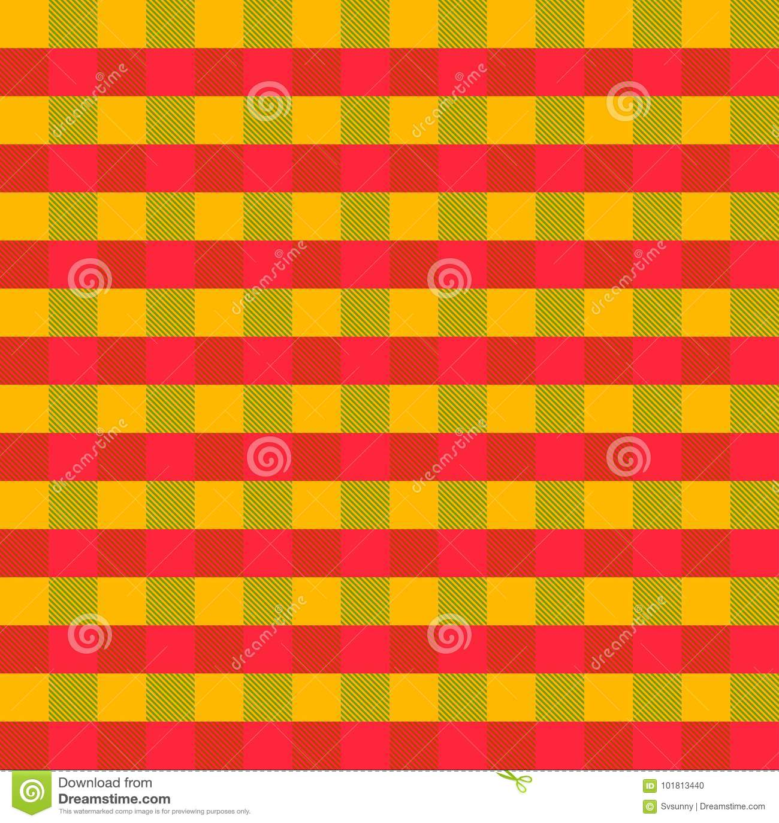 Fondo A Cuadros Abstracto Inconsútil Amarillo, Verde, Rojo Del ...