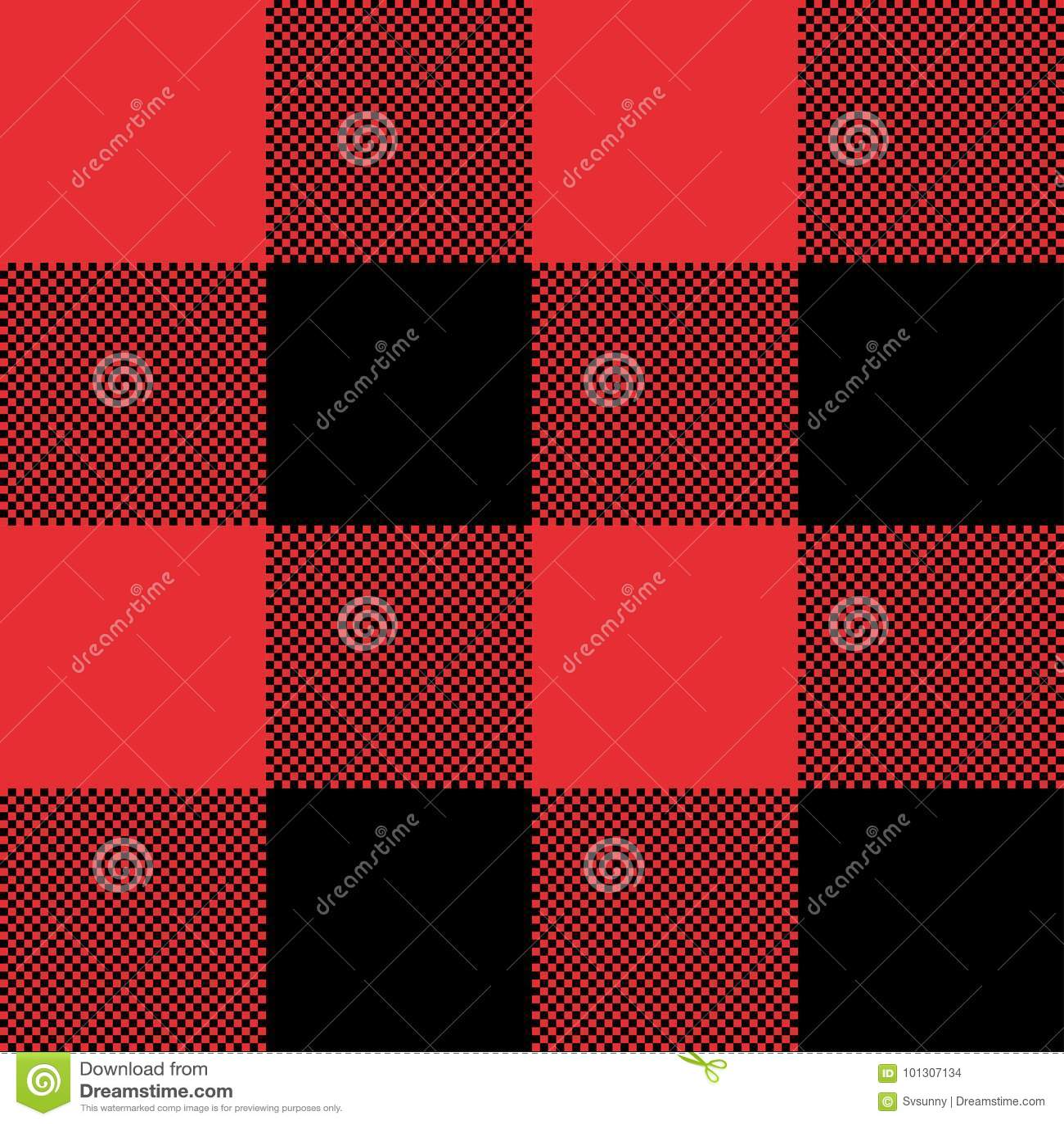Fondo A Cuadros Abstracto Inconsútil Rojo Y Negro Del Modelo De La ...