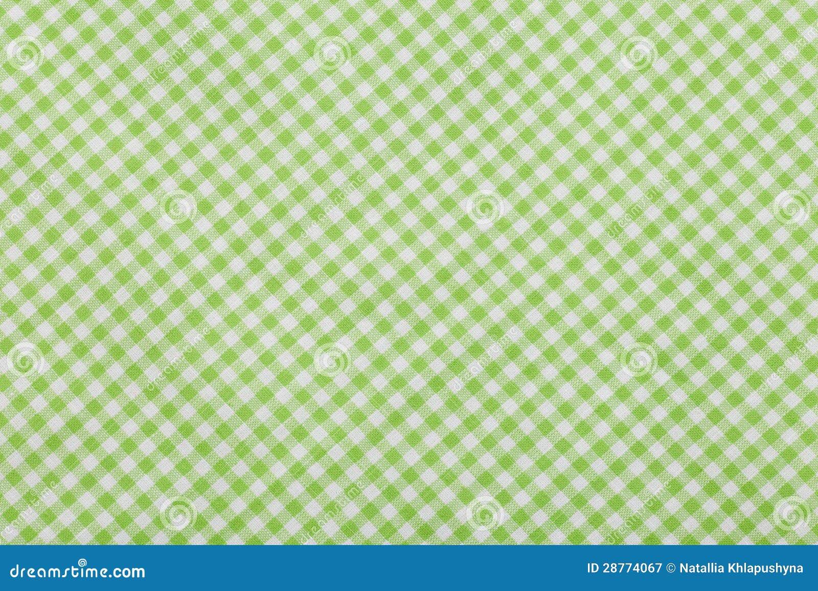 Fondo a cuadros verde del mantel