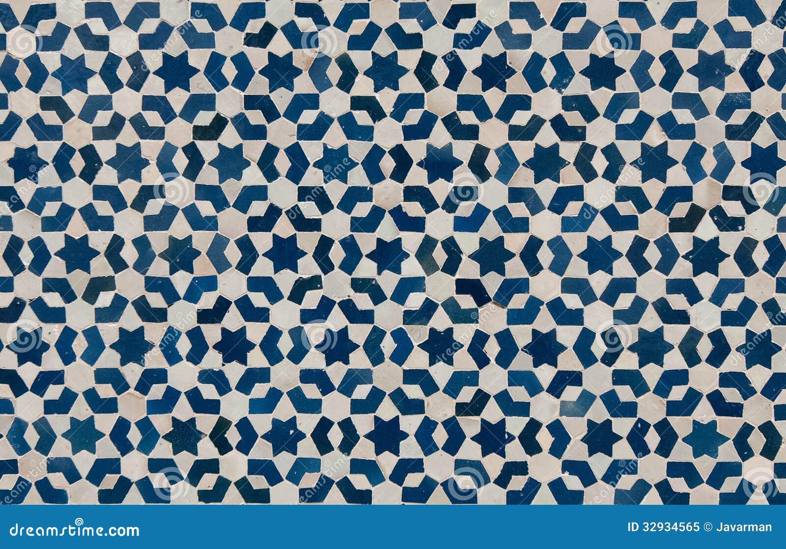 Fondo dannata marocchino delle mattonelle immagine stock immagine