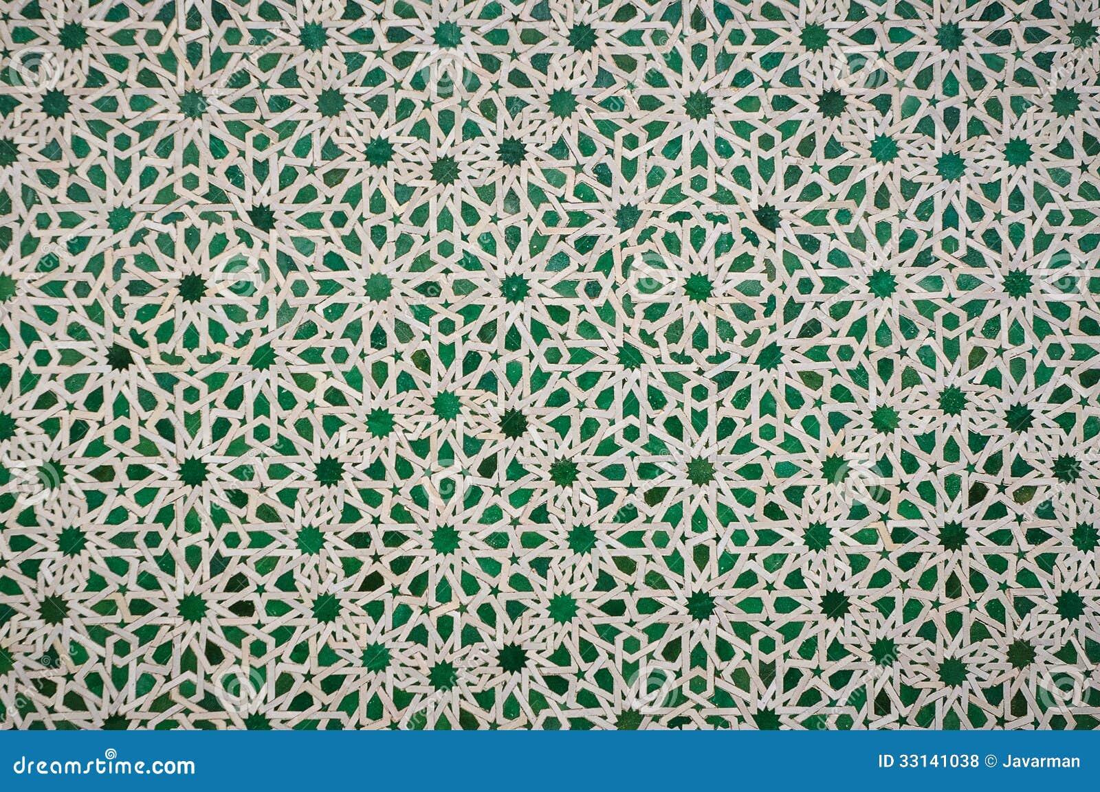 Fondo dannata marocchino delle mattonelle fotografia stock