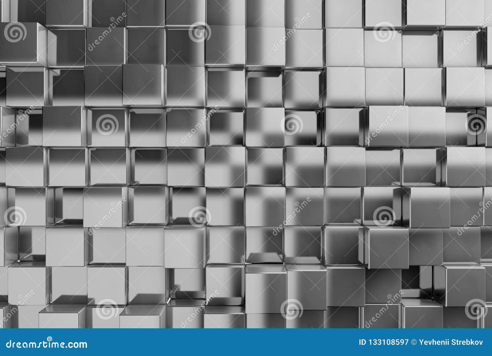 Fondo 3D de los cubos de la textura