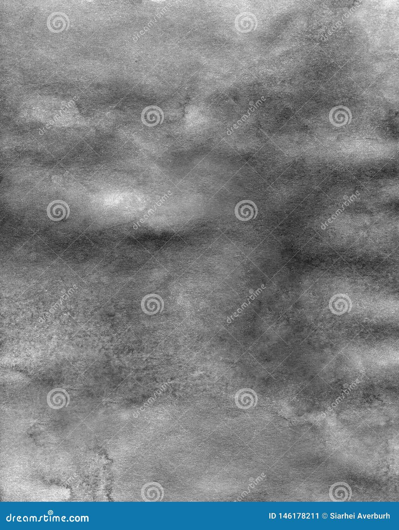 Fondo de acr?lico de la textura del m?rmol blanco y negro abstracto de la acuarela