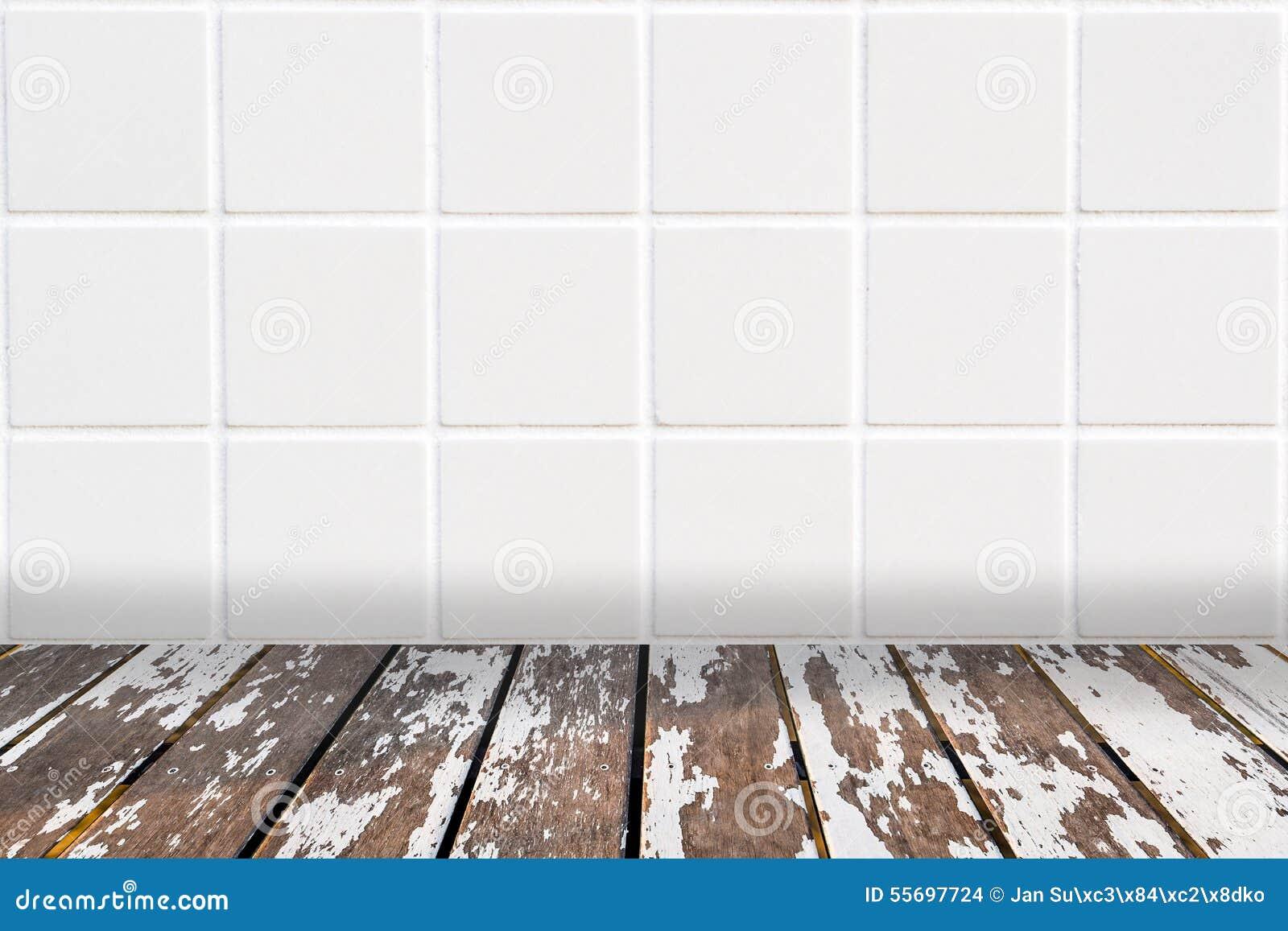 Fondo de architectual hecho del mosaico blanco y de for Mosaico madera pared