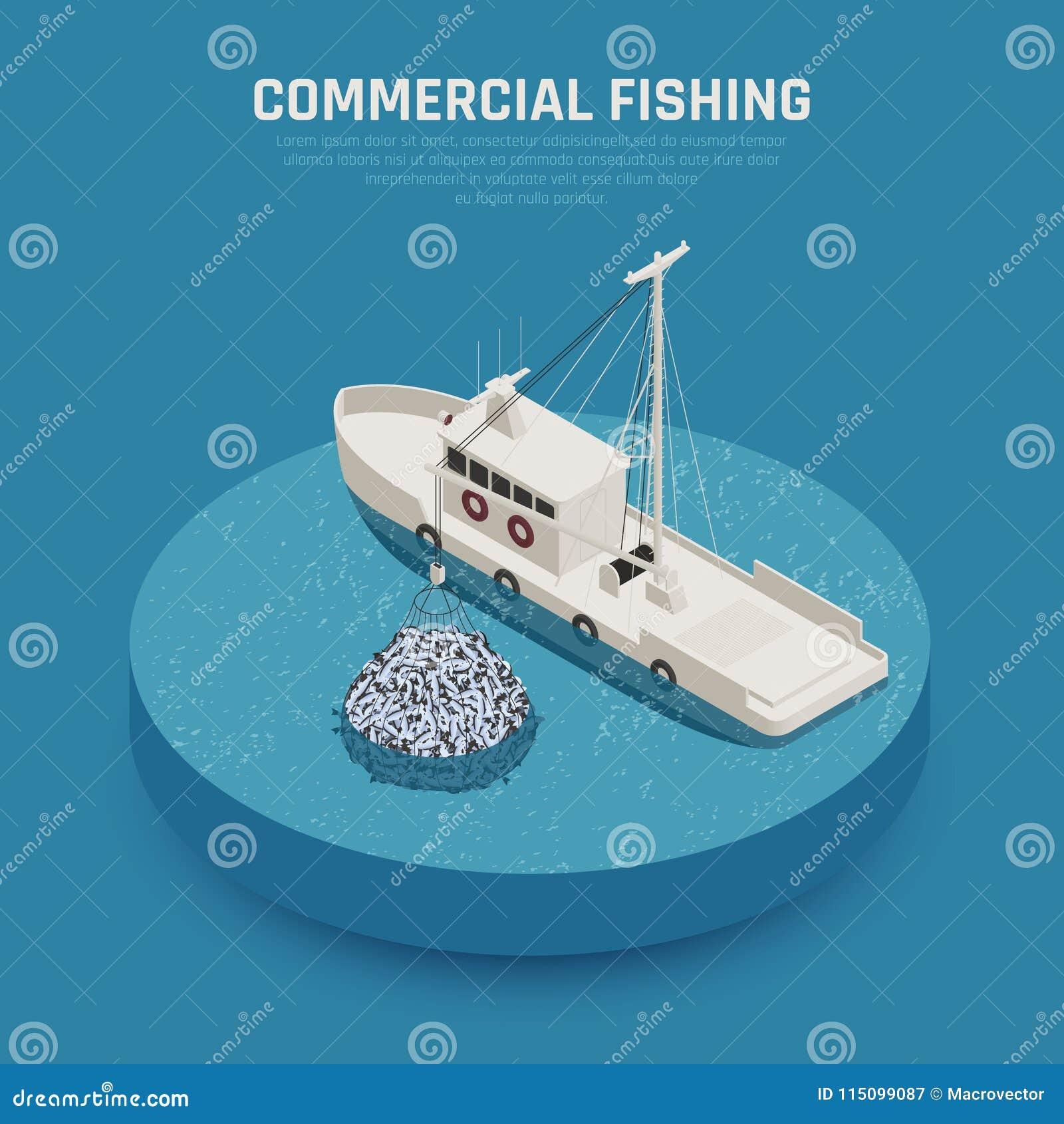 Fondo de buque pesquero ilustración del vector. Ilustración de ...