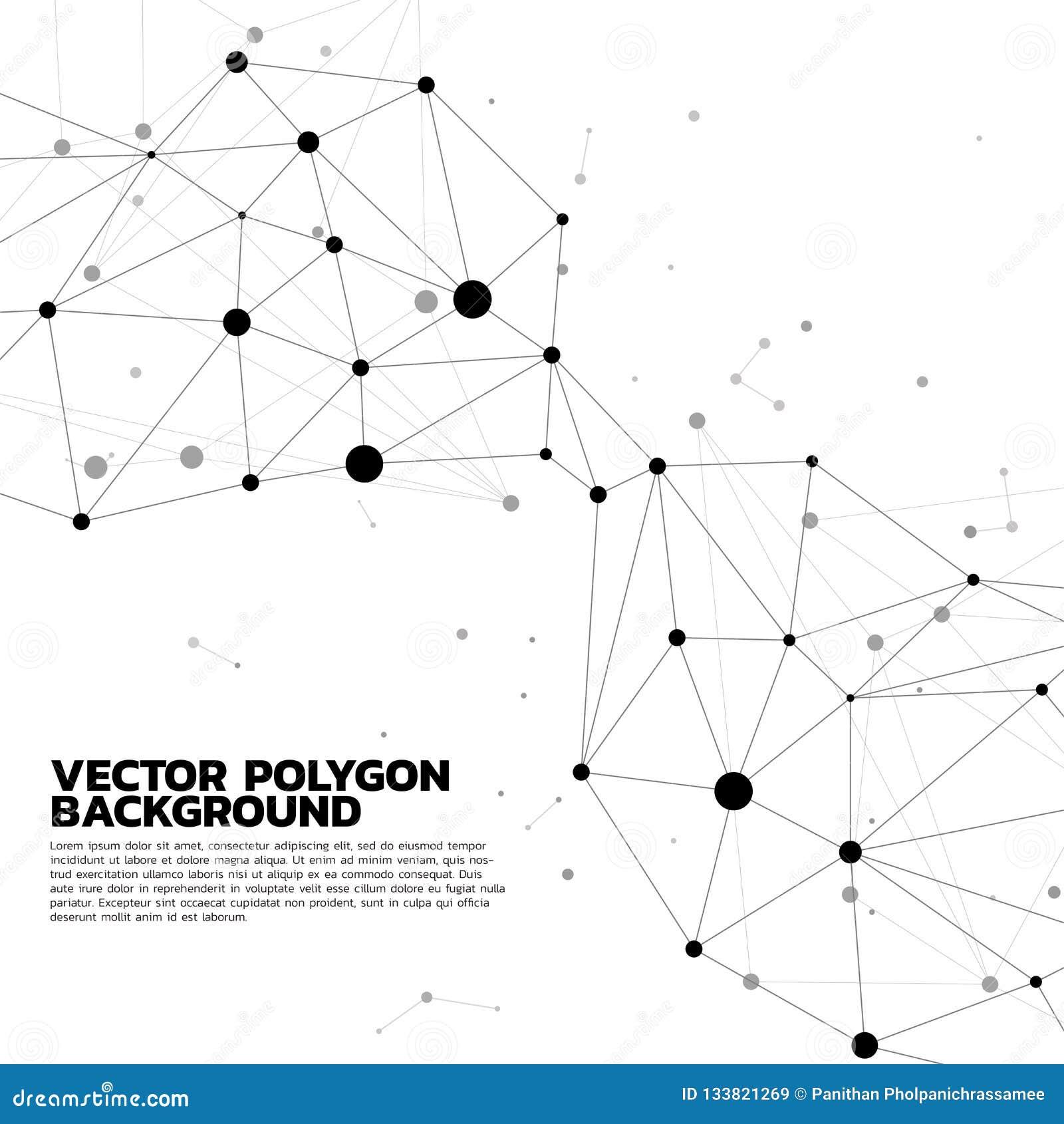 Fondo de conexión del polígono del punto de la red