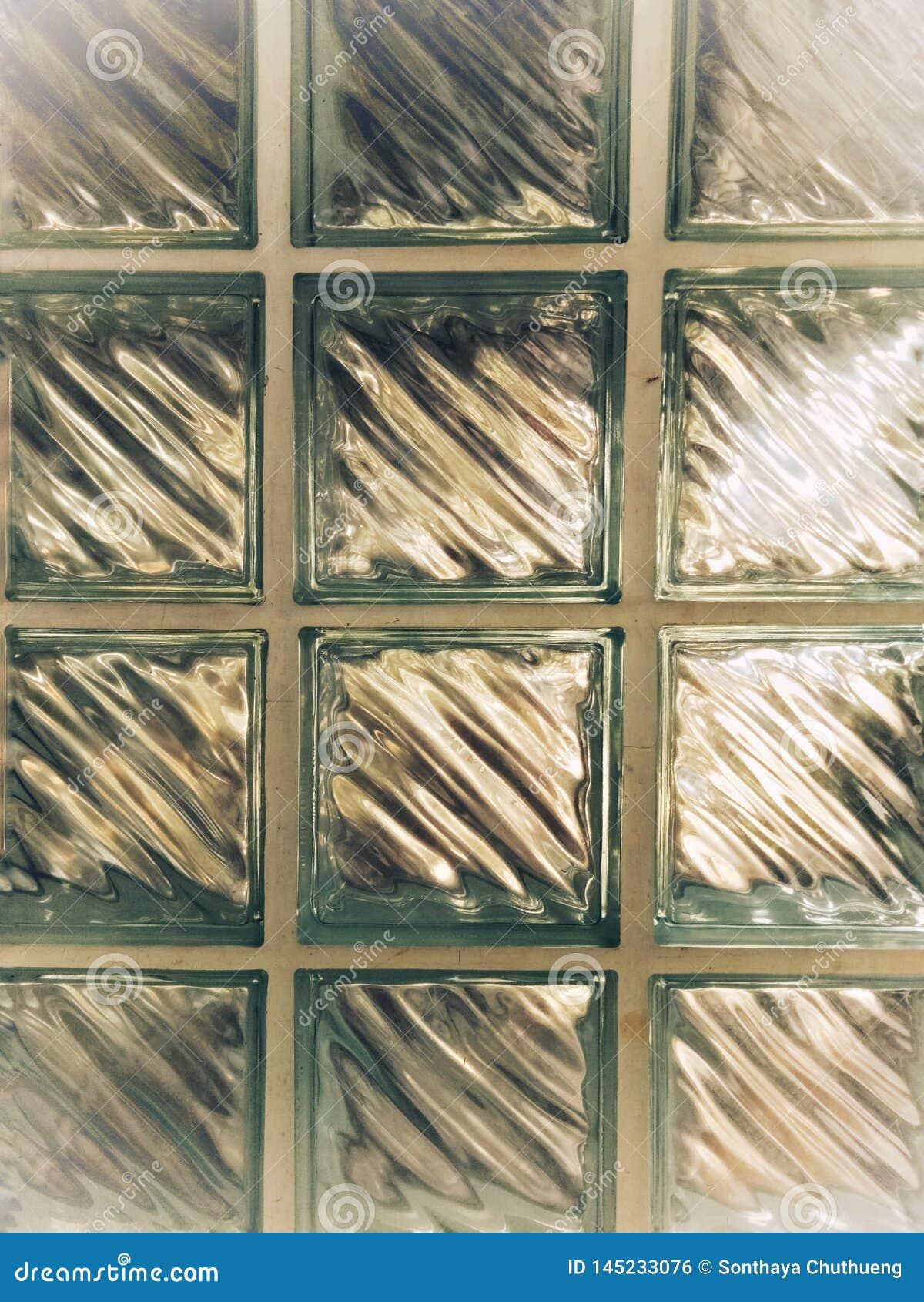 Fondo de cristal claro, pared de la casa