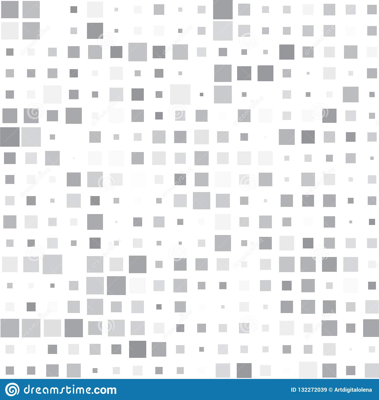 Fondo de cuadrados grises en blanco