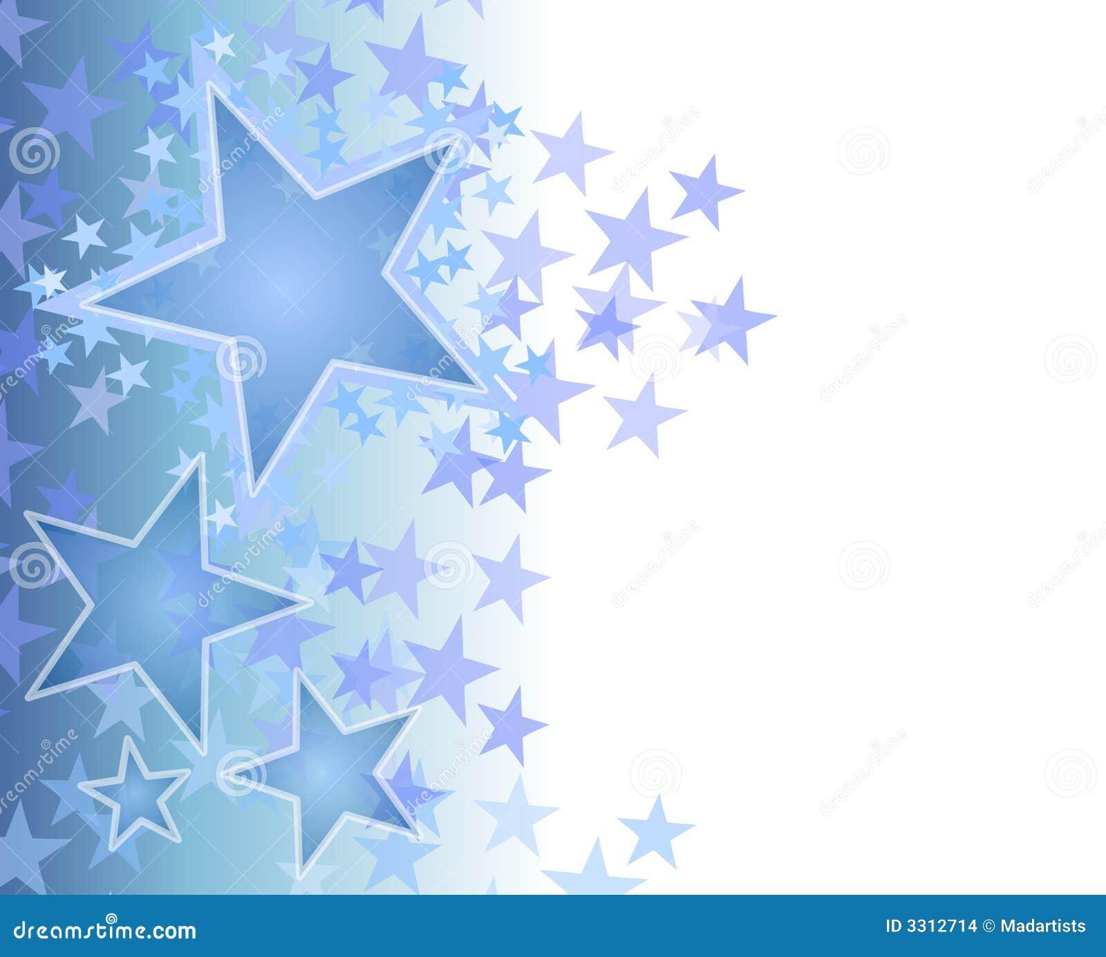 Fondo de descoloramiento azul de las estrellas