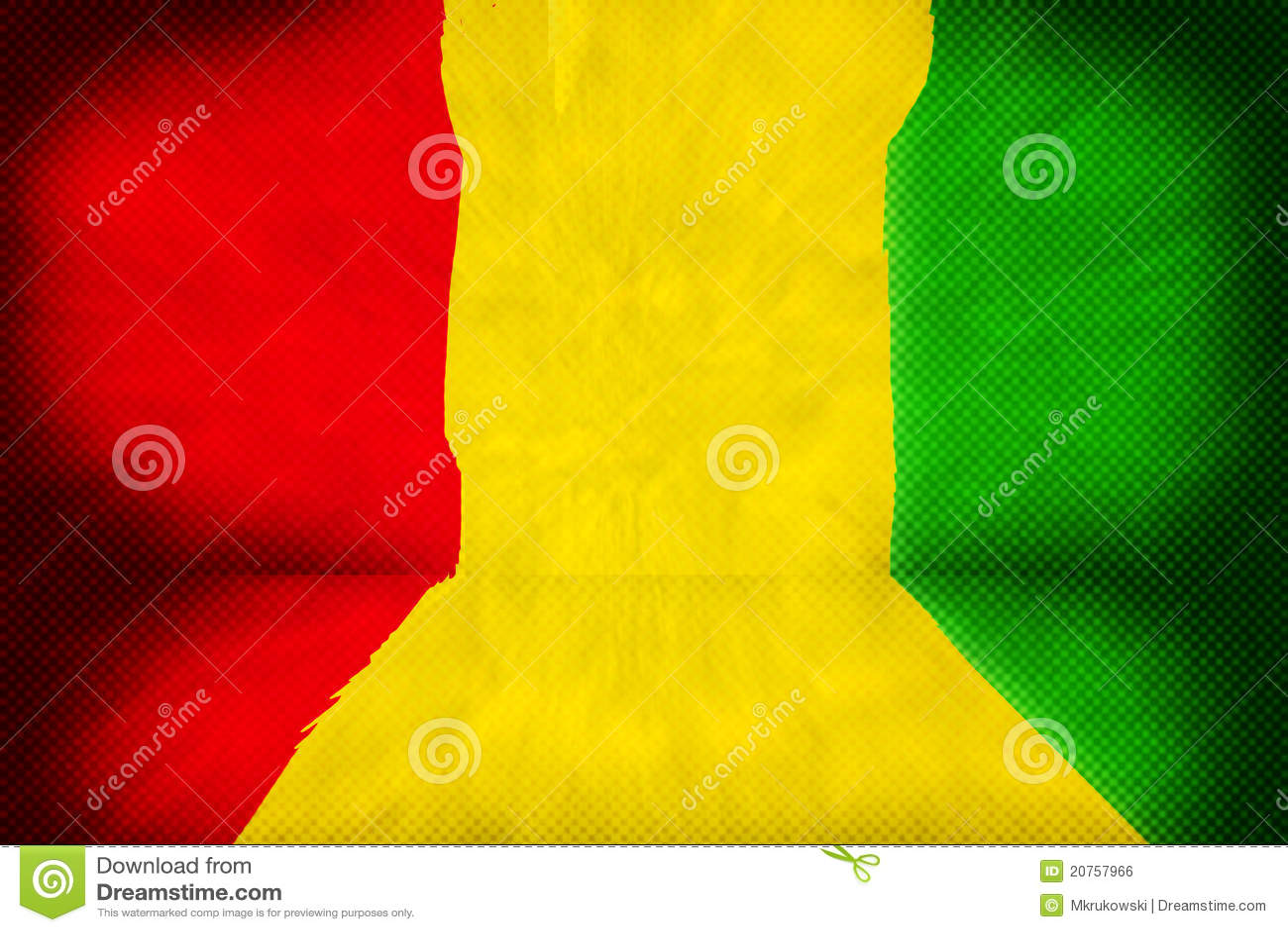 Fondo de etapa del reggae