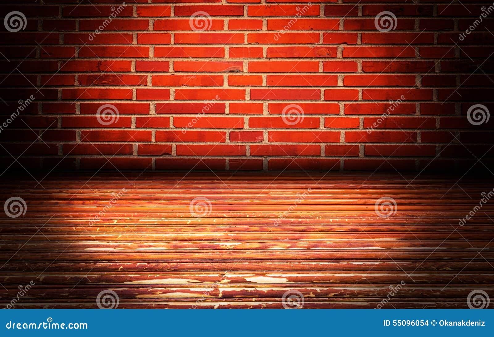 Fondo de etapa interior urbano de las paredes de ladrillo