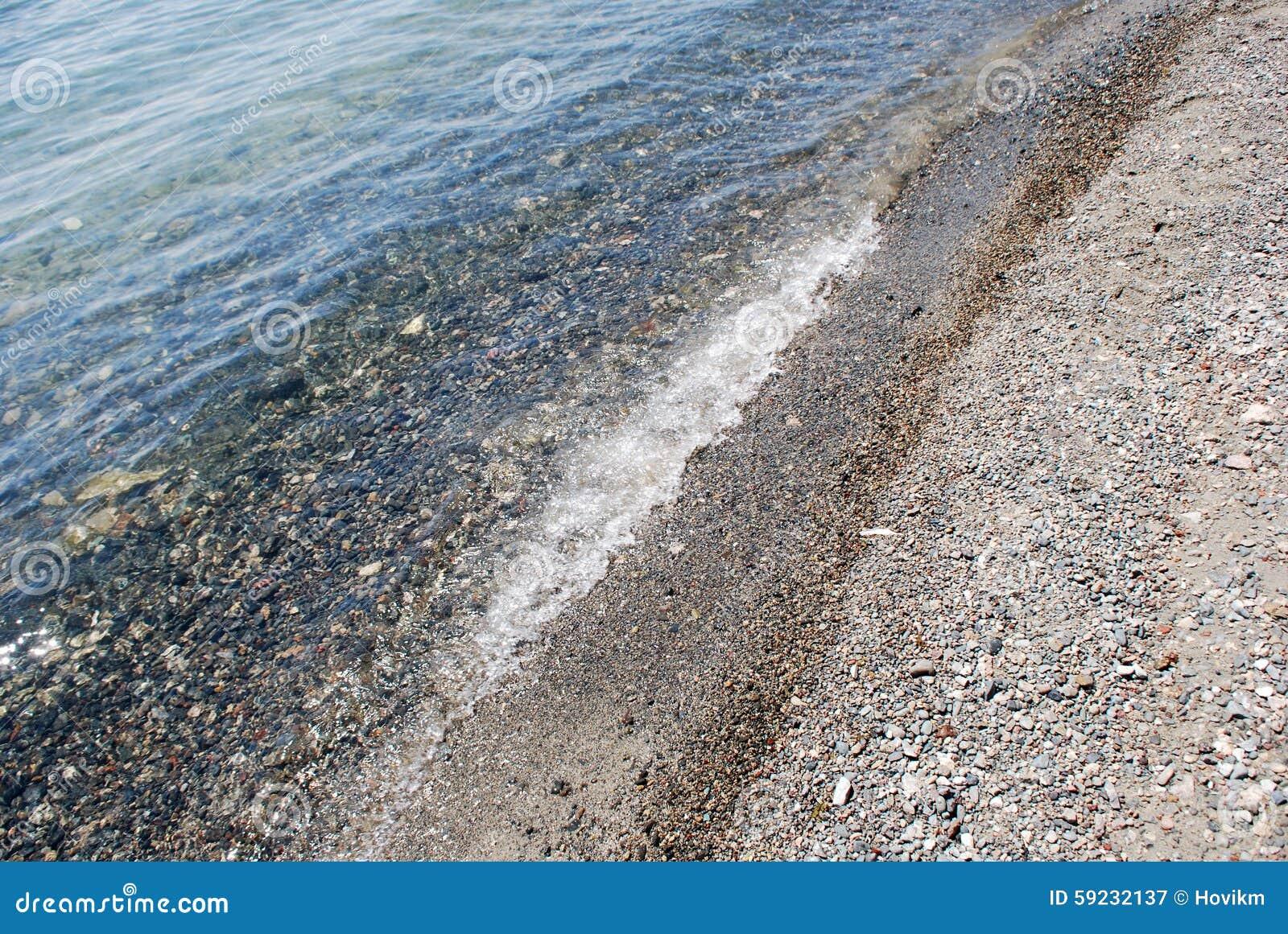 Fondo de la arena y del agua