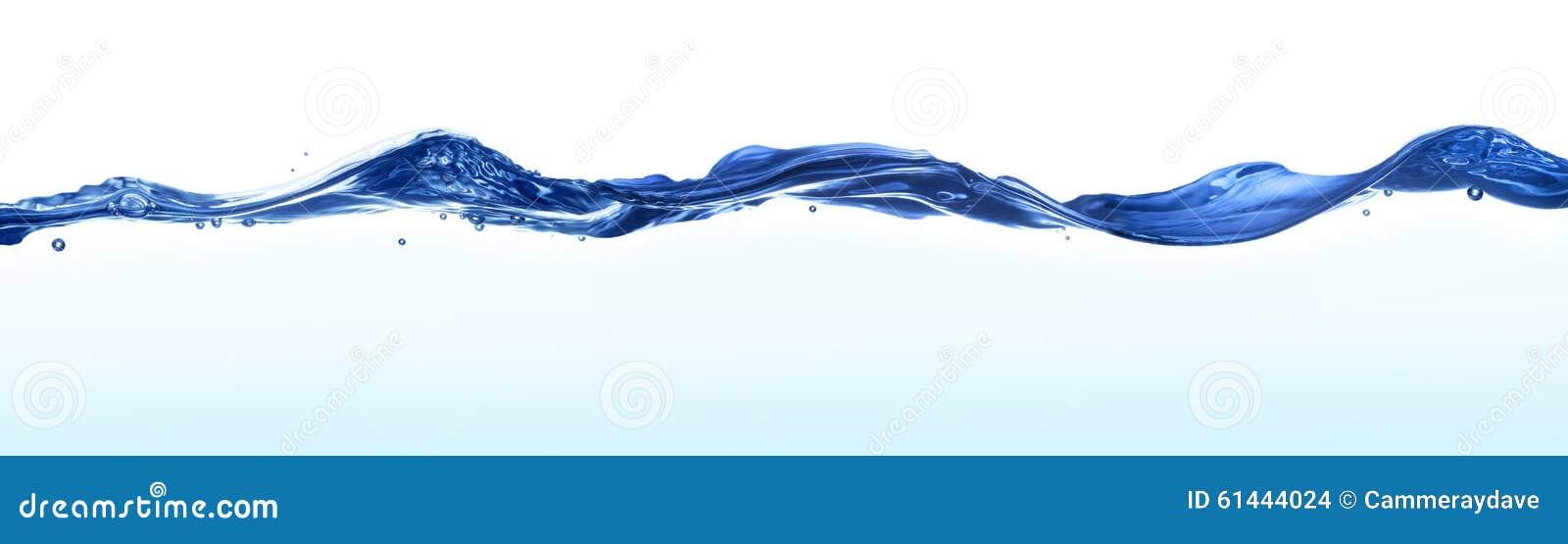Fondo de la bandera del agua de las ondas