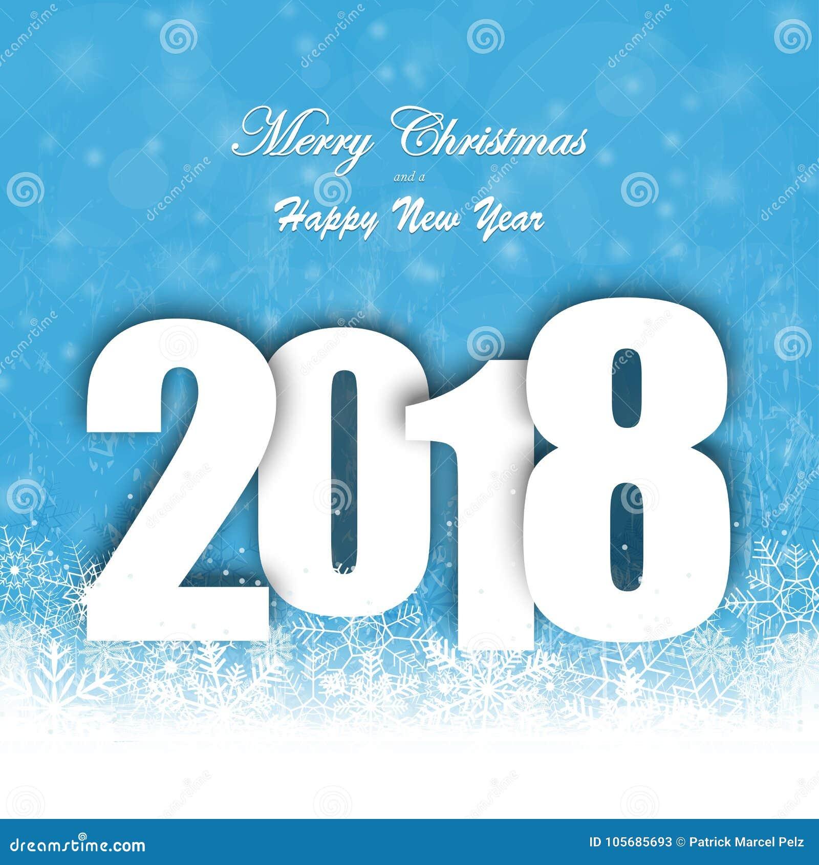 Fondo de la caída de la nieve por la Navidad y el Año Nuevo 2018