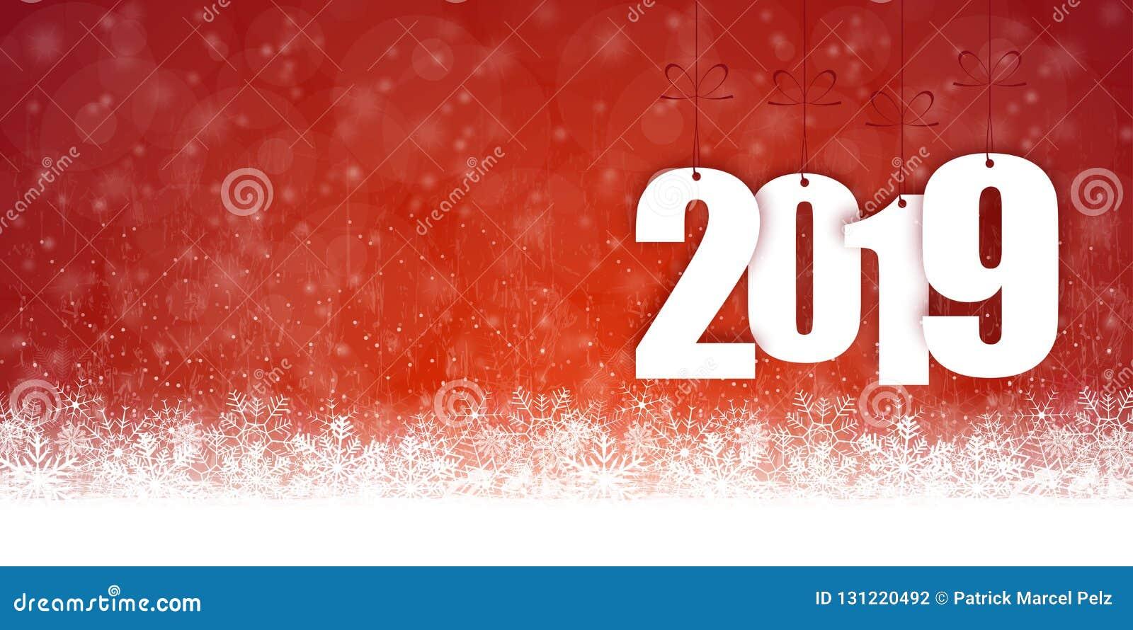 Fondo de la caída de la nieve por la Navidad y el Año Nuevo 2019