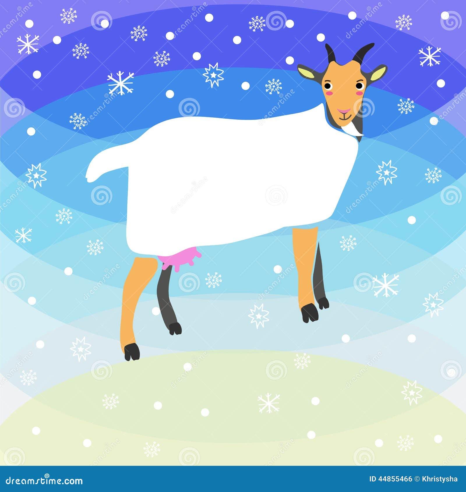 Fondo de la cabra de la Navidad