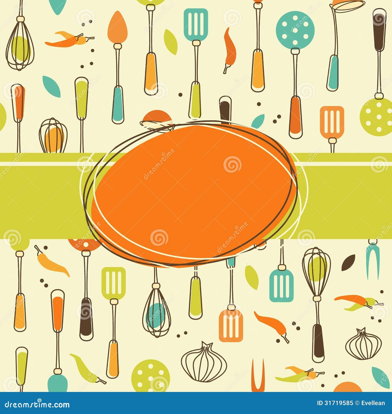 Fondo De La Cocina Ilustraci N Del Vector Imagen De