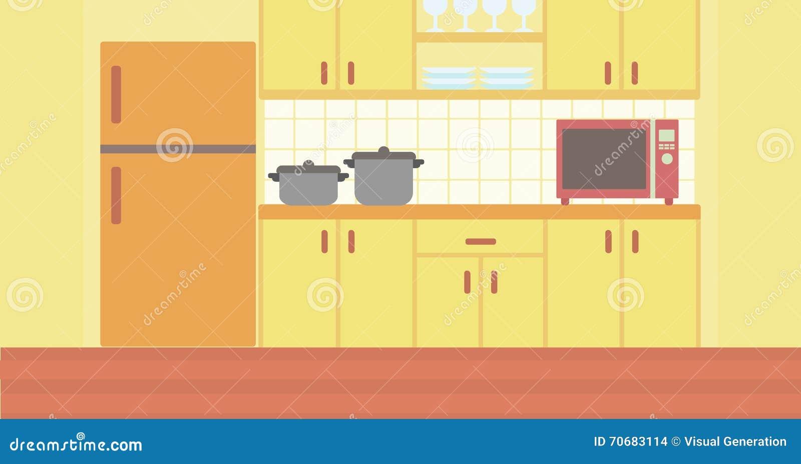 Fondo de la cocina con art culos de cocina ilustraci n del for Remates articulos de cocina