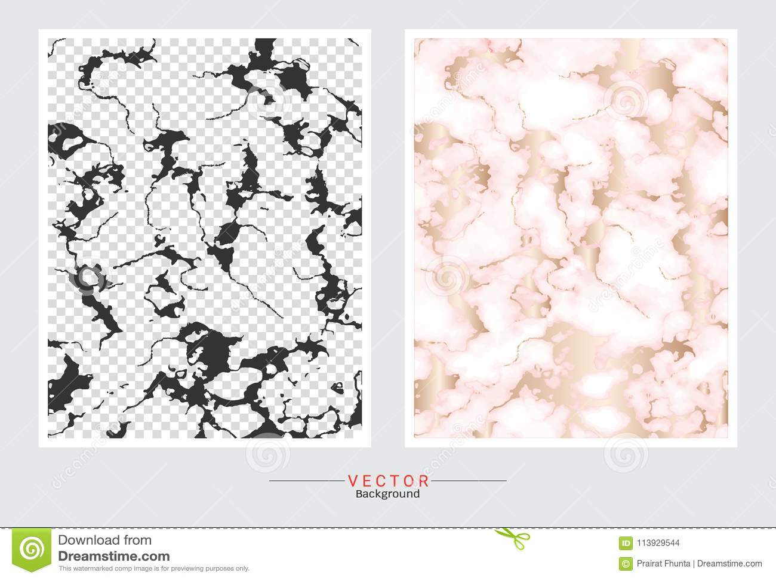 Fondo de la cubierta del mármol del oro, plantilla determinada del vector
