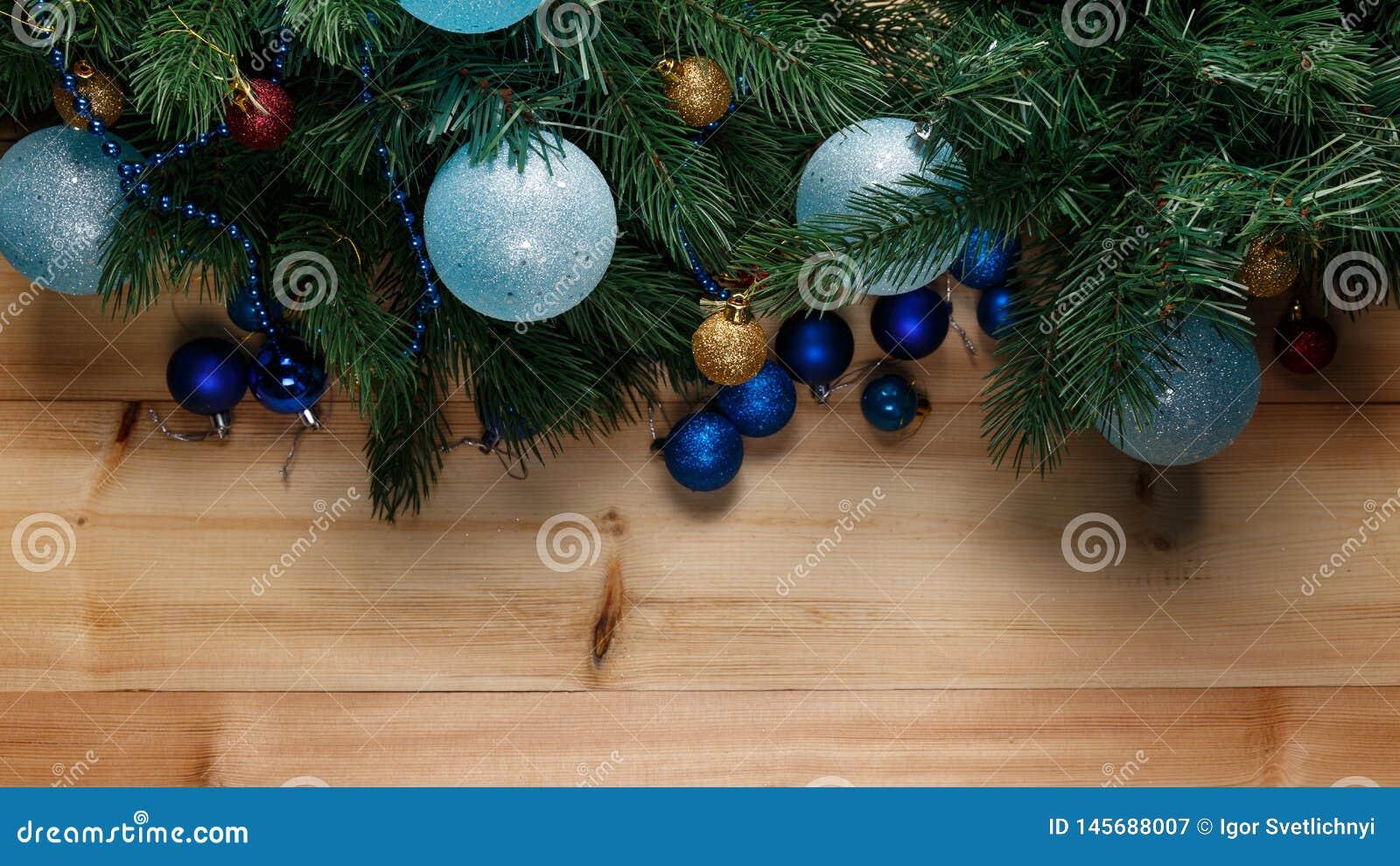 Fondo de la decoraci?n de la Navidad o del A?o Nuevo
